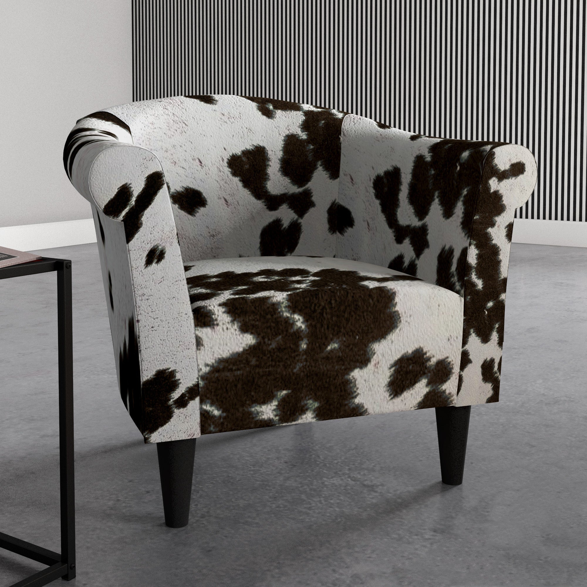 Shop The Gray Barn Goddard Cowhide Print Accent Chair On Sale
