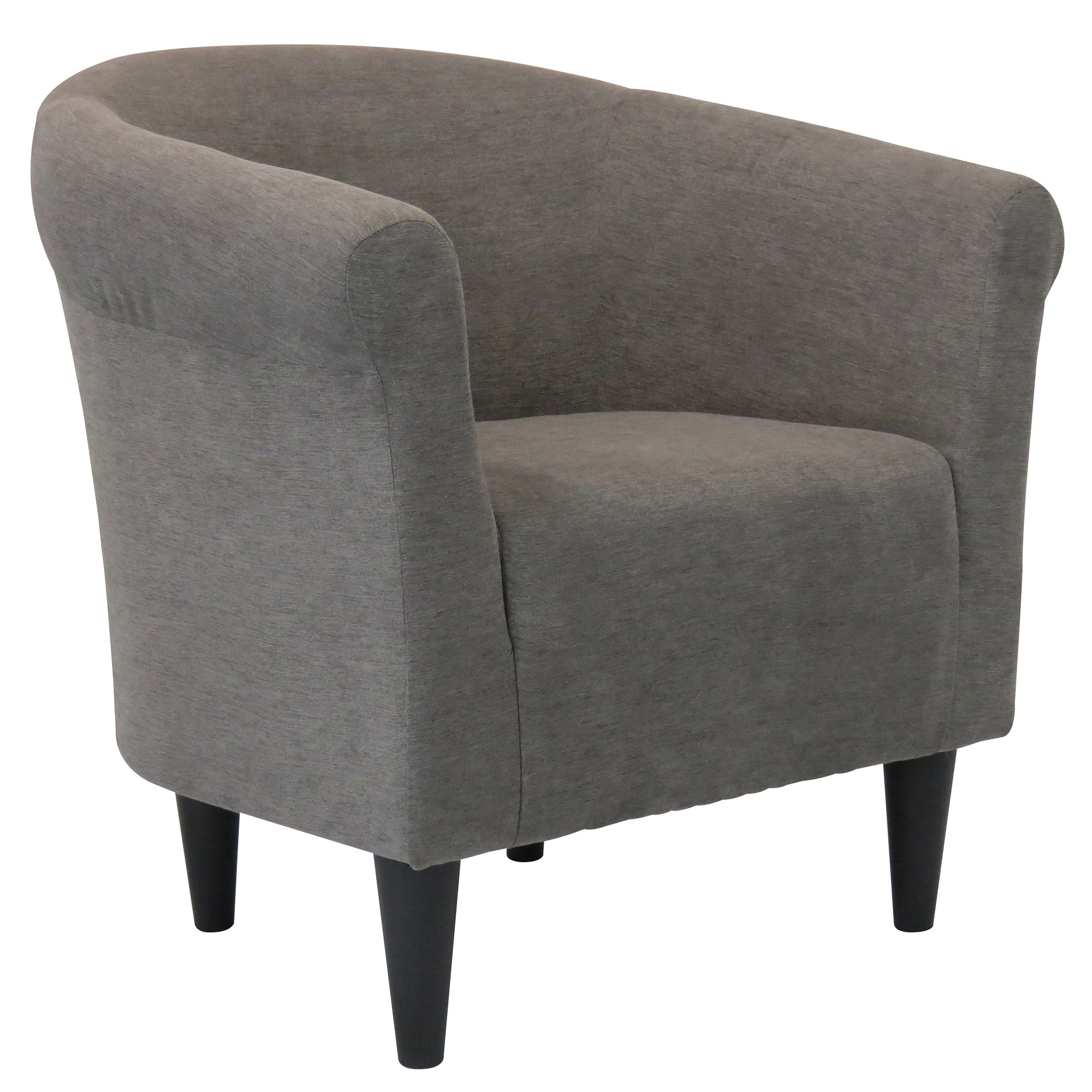 Shop porch den walker round back upholstered accent chair free shipping today overstock com 20340250