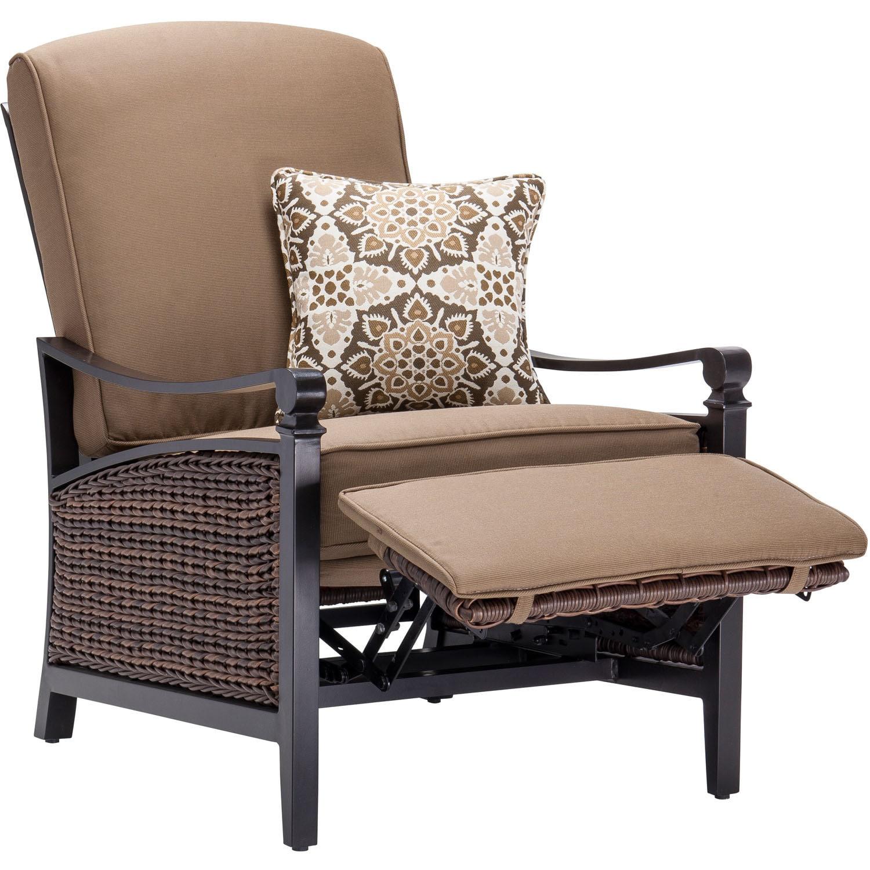 Shop La Z Boy Outdoor Carson Tan Luxury Outdoor Recliner   Free Shipping  Today   Overstock.com   11776827