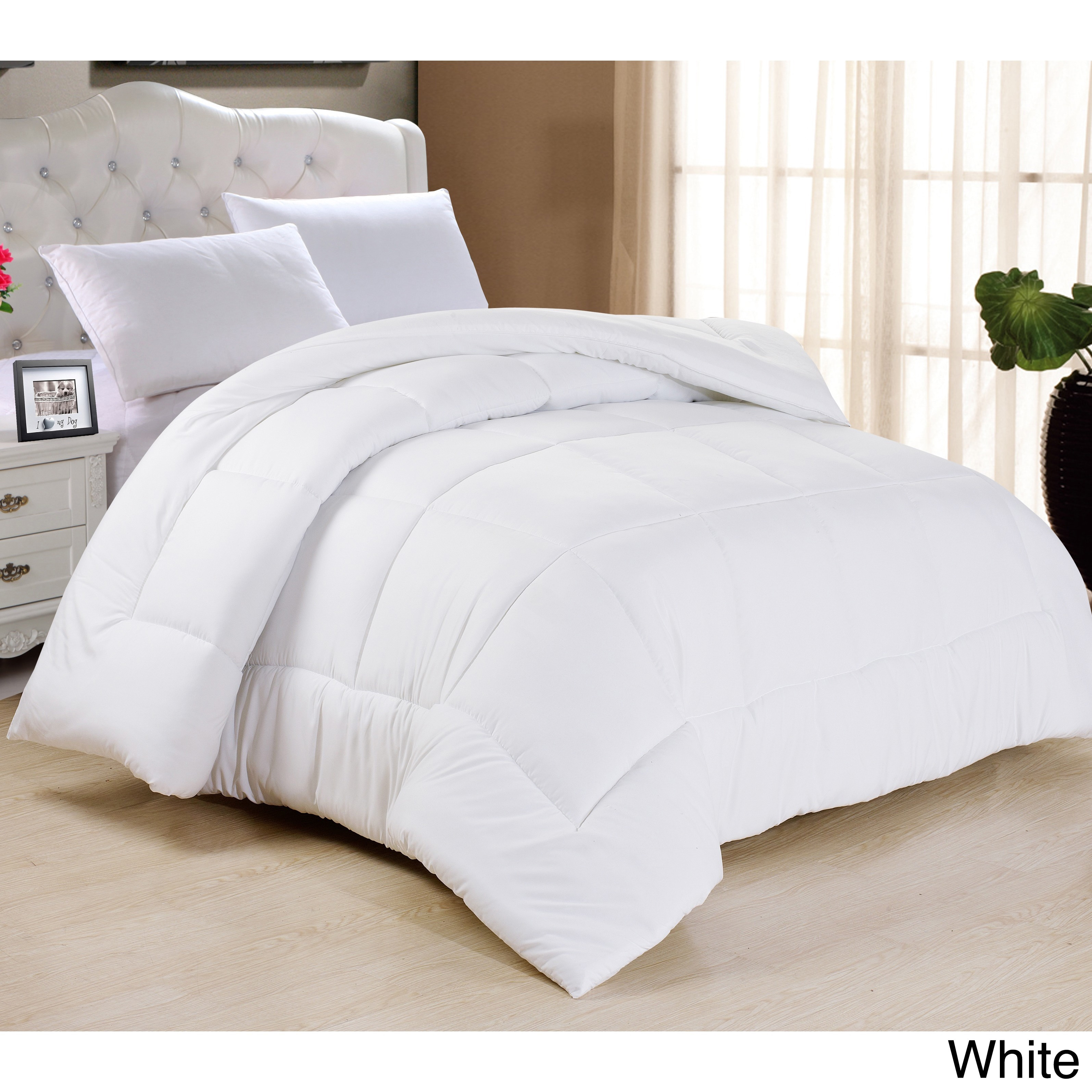 today product pintuck all tufted season overstock bath bedding down alternative white comforter reviews shipping free