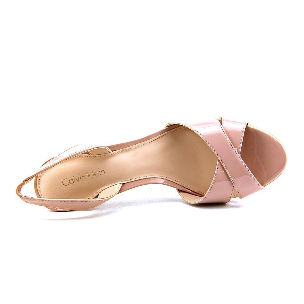 0e111e9fba9 Shop Calvin Klein Women s  Lucette  Patent Leather Sandals - Free Shipping  On Orders Over  45 - Overstock - 11778268