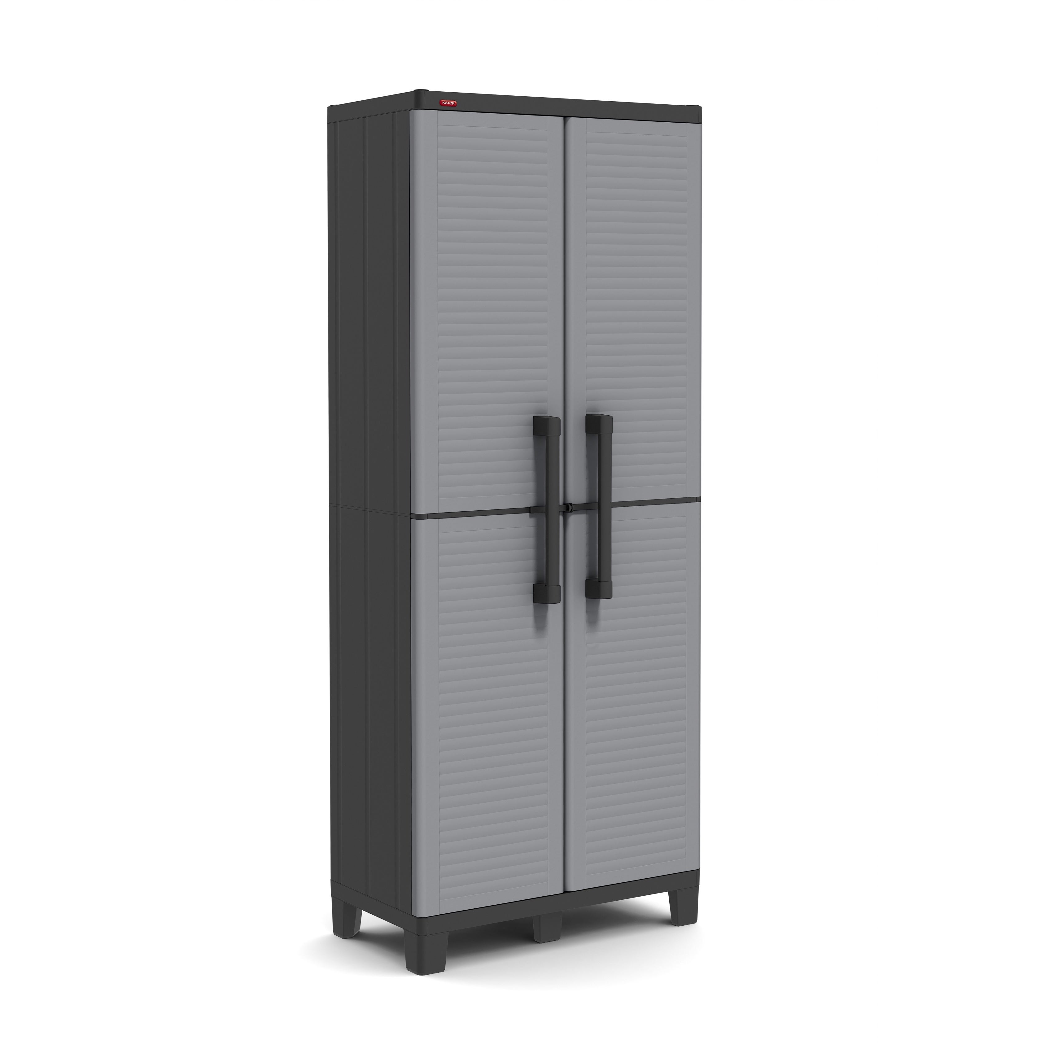 Keter E Winner Plastic Utility Storage Cabinet With Adjule Shelves Free Shipping Today 11780639