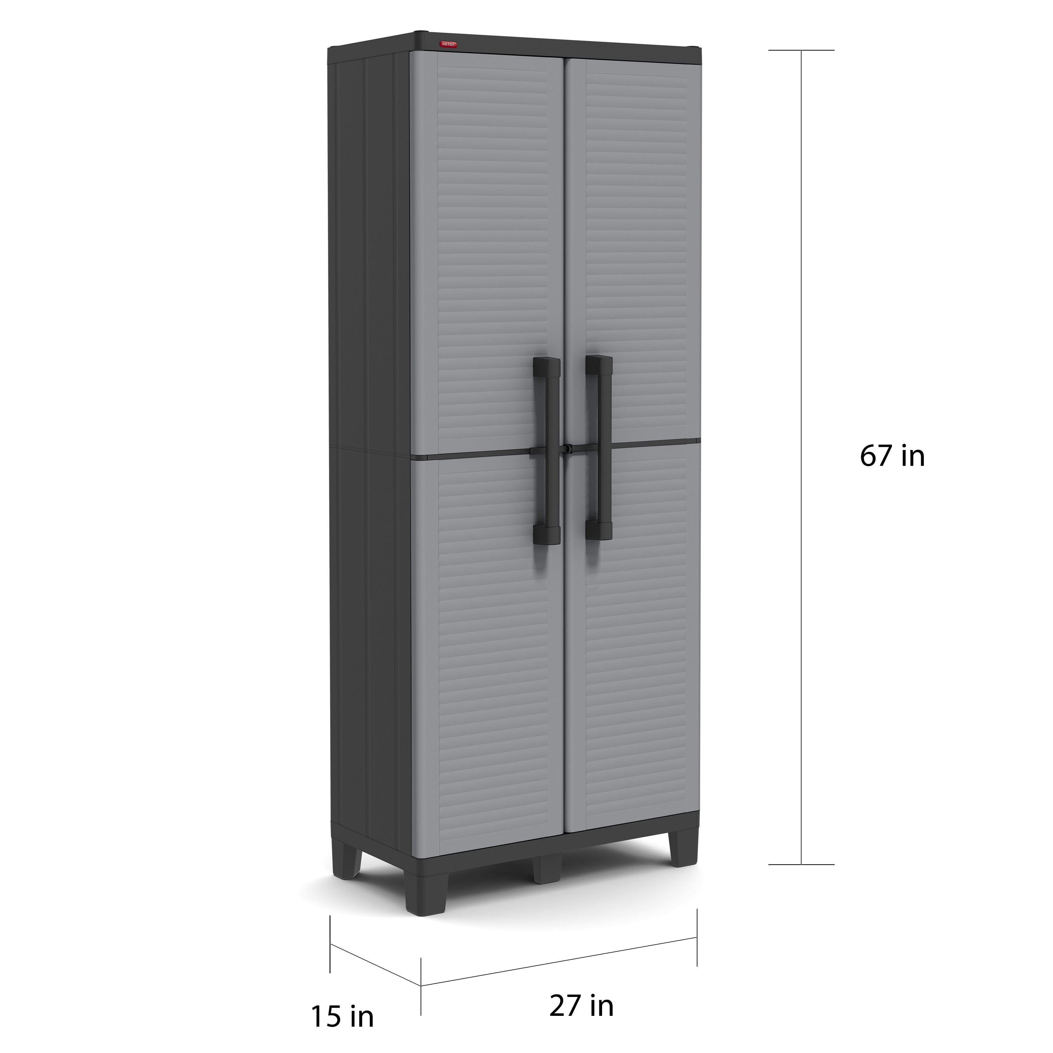 E Winner Plastic Utility Storage Cabinet With Adjule