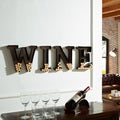 Danya B Metal Wall Mount 'Wine' Letters Cork Holder