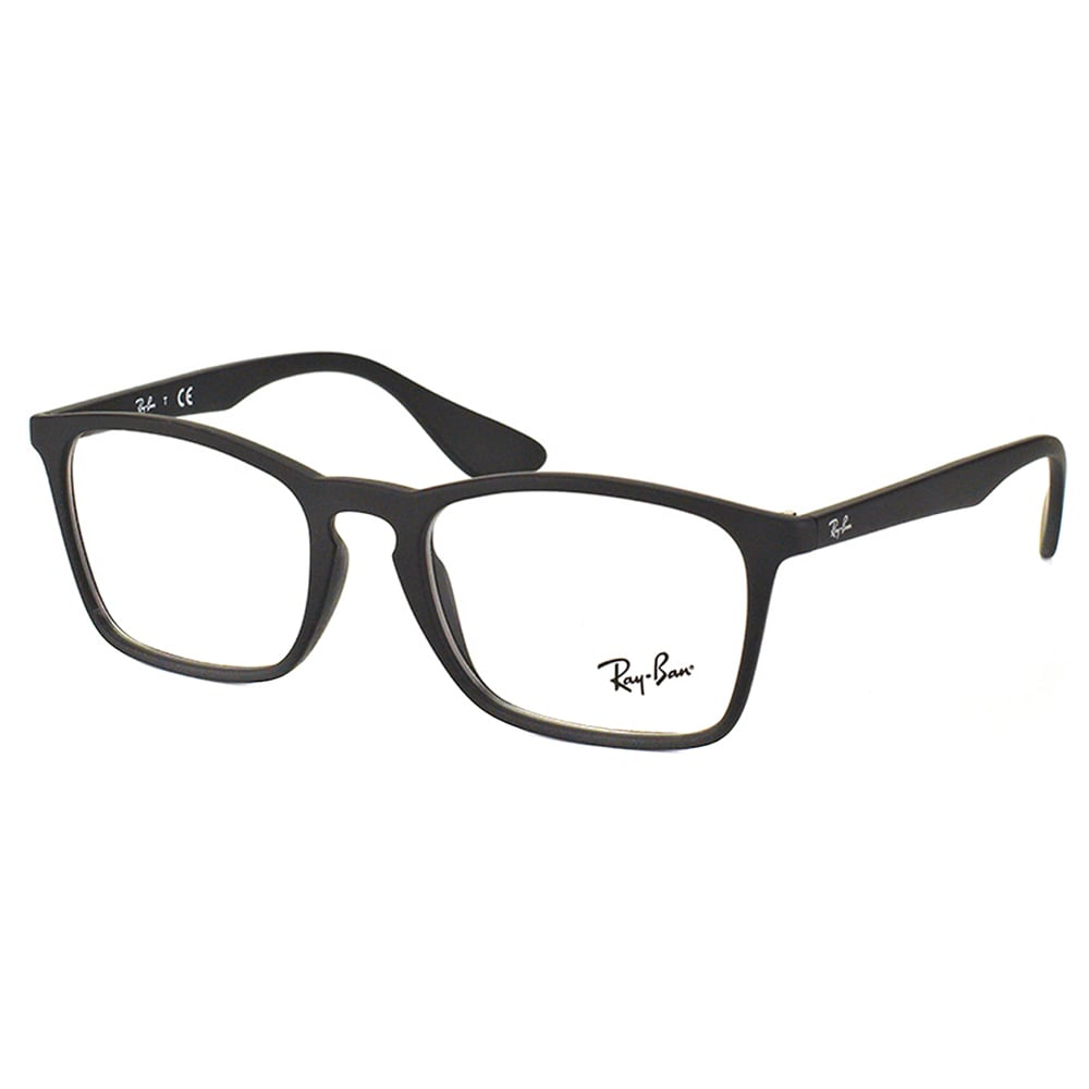 06a777d5d96 Ray-Ban RX 7045 5364 Black Rubber Plastic Rectangle 55mm Eyeglasses