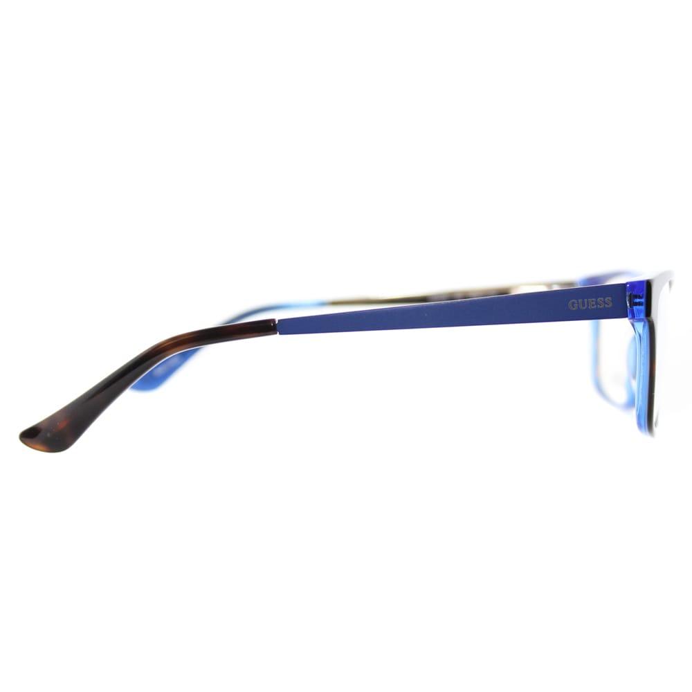 e4218d202c0 Shop Guess GU 2538 052 Dark Havana Blue Plastic Cat-Eye 55mm Eyeglasses - Free  Shipping Today - Overstock - 11782028