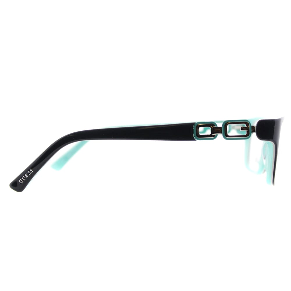 c4f68f99c6 Shop Guess GU 2406 BLGRN Petite Fit Black on Turquoise Plastic Cat-Eye 52mm  Eyeglasses - On Sale - Ships To Canada - Overstock - 11782030