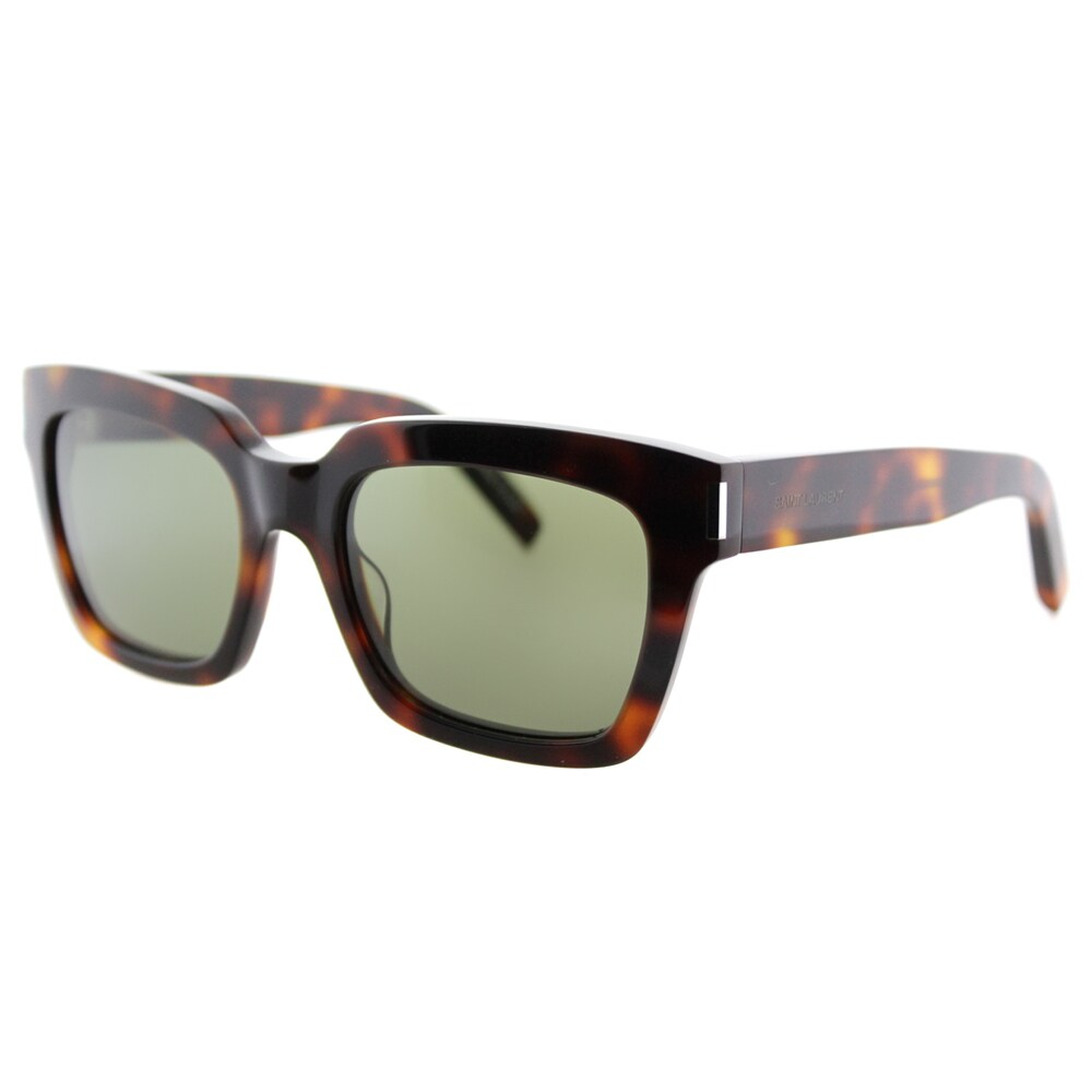 784bdbe84f4 Shop Saint Laurent SL Bold 1 003 Black Plastic Square Green Lens Sunglasses  - On Sale - Free Shipping Today - Overstock.com - 11782219