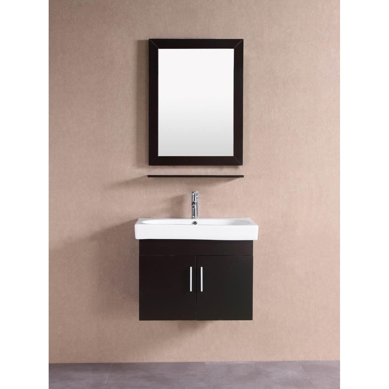 Shop belvedere modern espresso 28 inch floating bathroom vanity free shipping today overstock com 11783610