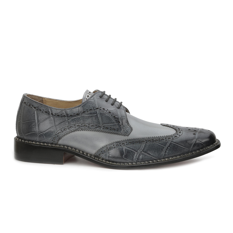 Men's Giorgio Brutini 21085 Gray Buff Croc/Light Gray Smooth Calf - Free  Shipping Today - Overstock.com - 18697917