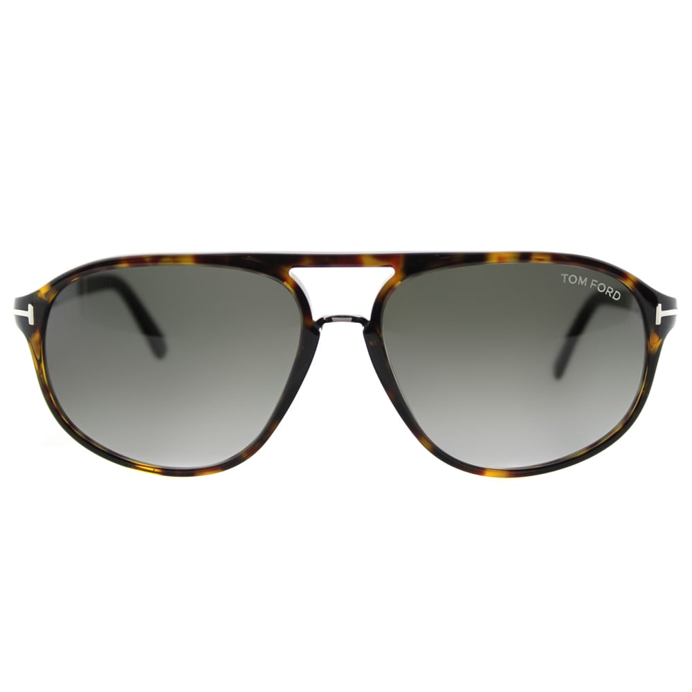 1360ac3e988 Shop Tom Ford TF 447 52B Jacob Dark Havana Plastic Aviator Grey Gradient  Lens Sunglasses - Free Shipping Today - Overstock - 11801462