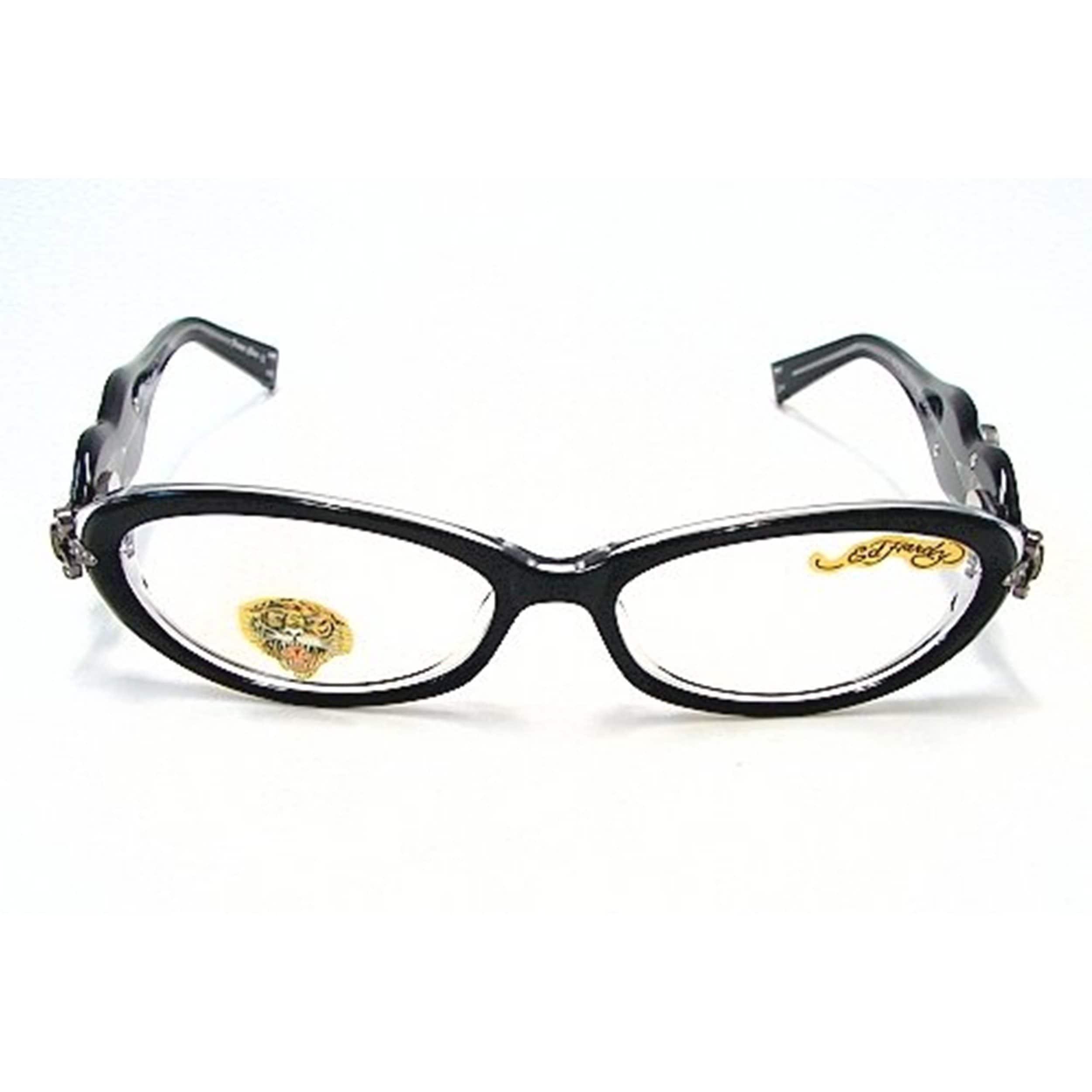 37eeb1f5bc Shop Ed Hardy Women s EHO-709 Black   Crystal Designer Eyeglasses - Free  Shipping Today - Overstock - 11801495