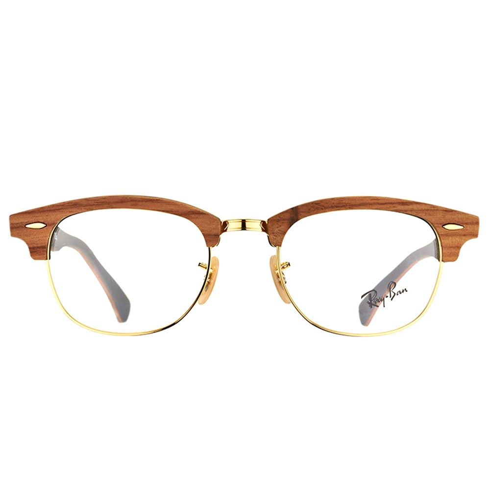 08d4dbd4b1 Shop Ray-Ban RX 5154M 5560 Clubmaster Walnut Wood 51mm Eyeglasses - Free  Shipping Today - Overstock - 11801914