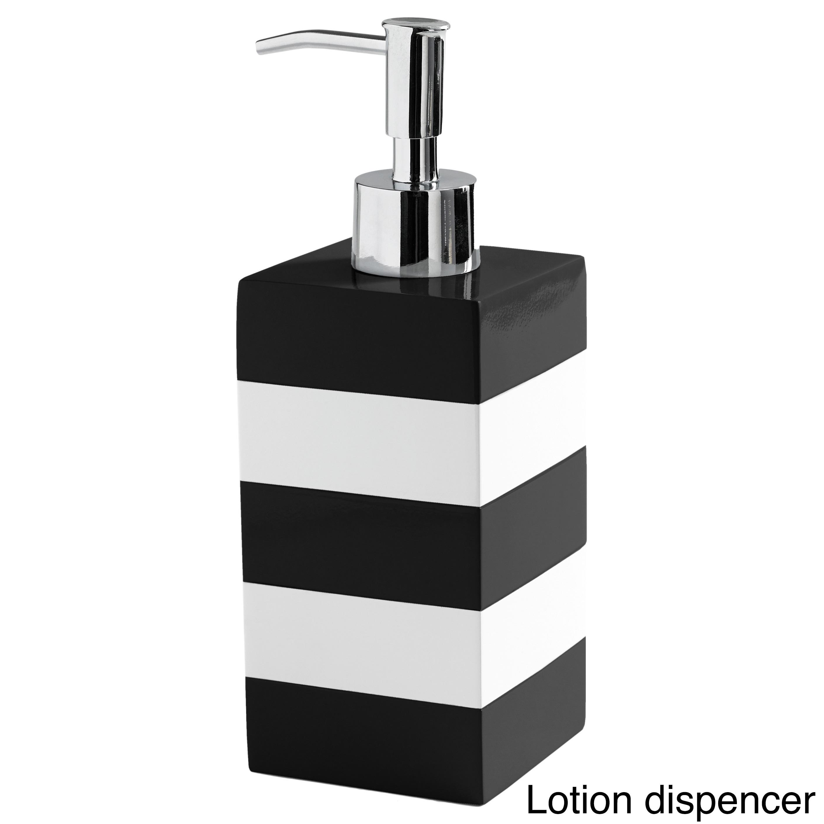 Coastal Stripe Black/White Bathroom Accessories - Free Shipping On ...
