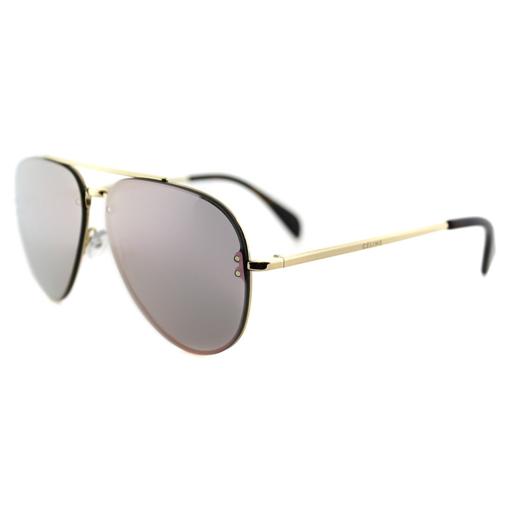 74bdfa690a2 Shop Celine CL 41392 Small Mirror J5G OJ Gold Metal Aviator Pink Mirror  Lens Sunglasses - Free Shipping Today - Overstock - 11804815