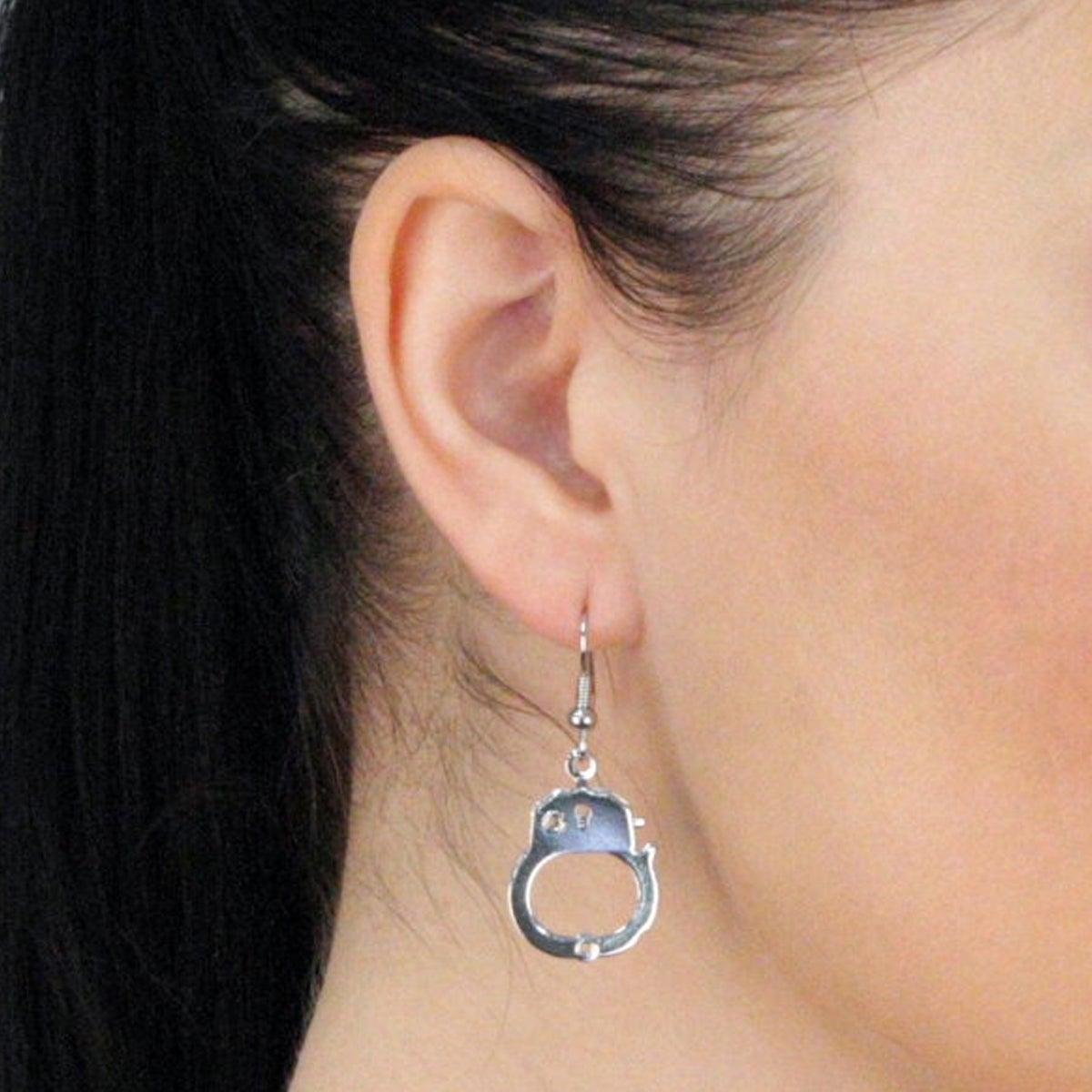 Silver Dangle Handcuff Earrings Free Shipping On Orders Over 45 11804816