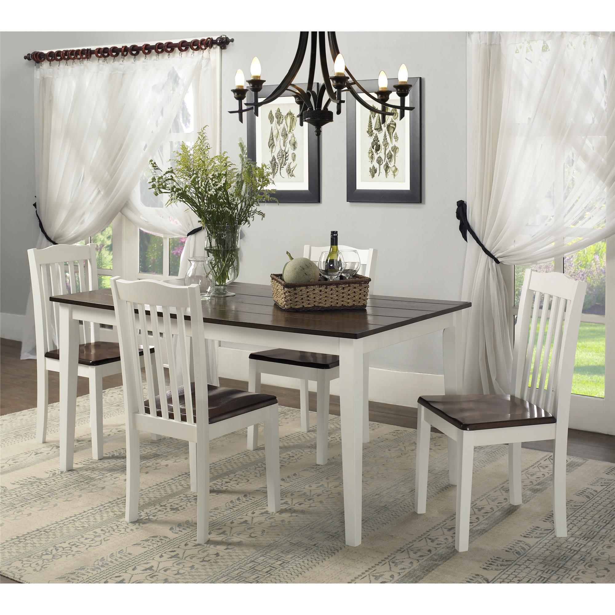 Shop dorel living shiloh 5 piece rustic dining set free shipping today overstock com 20187062