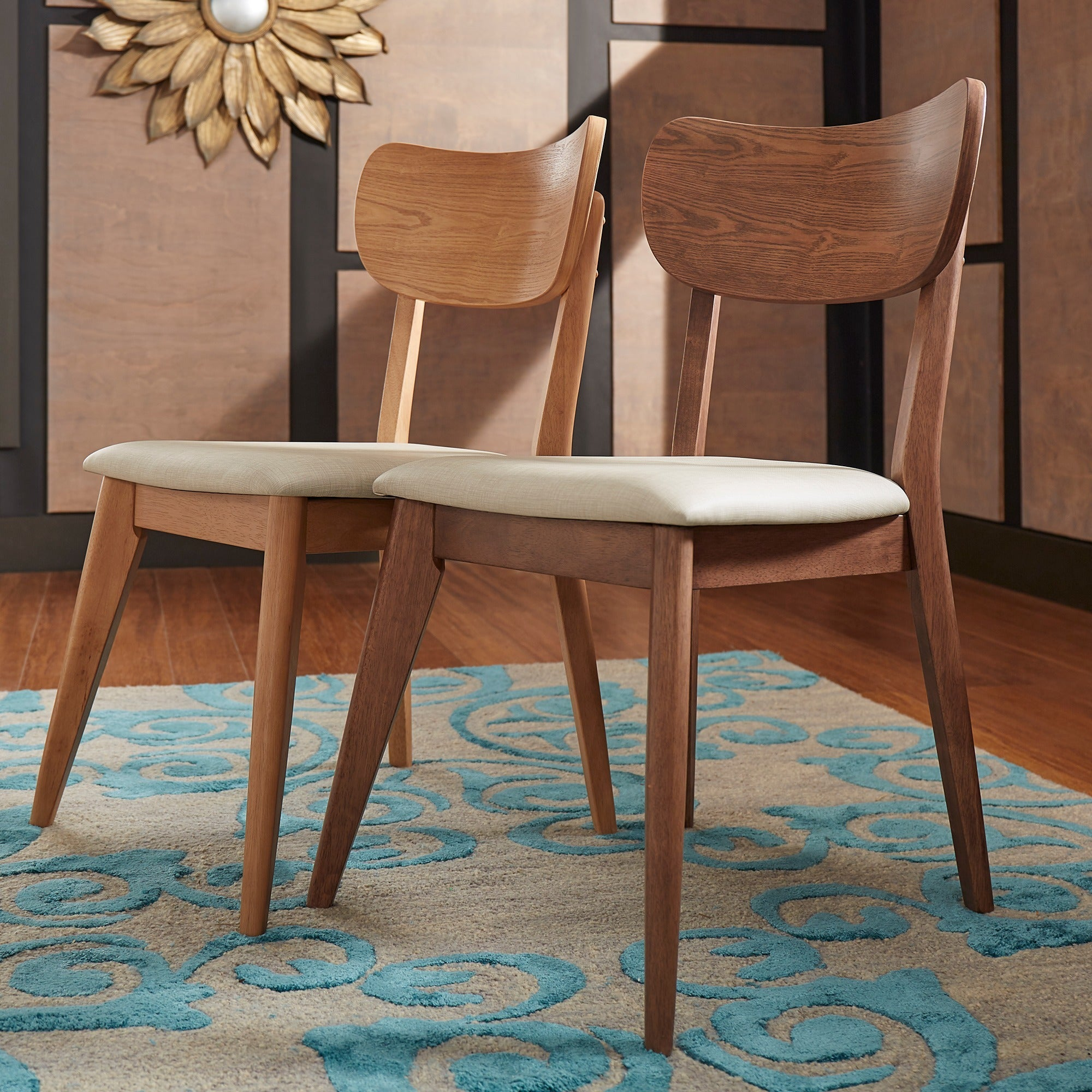 Penelope Danish Modern Tapered-leg Dining Chair (Set of 2) iNSPIRE Q Modern  - Free Shipping Today - Overstock.com - 18715927