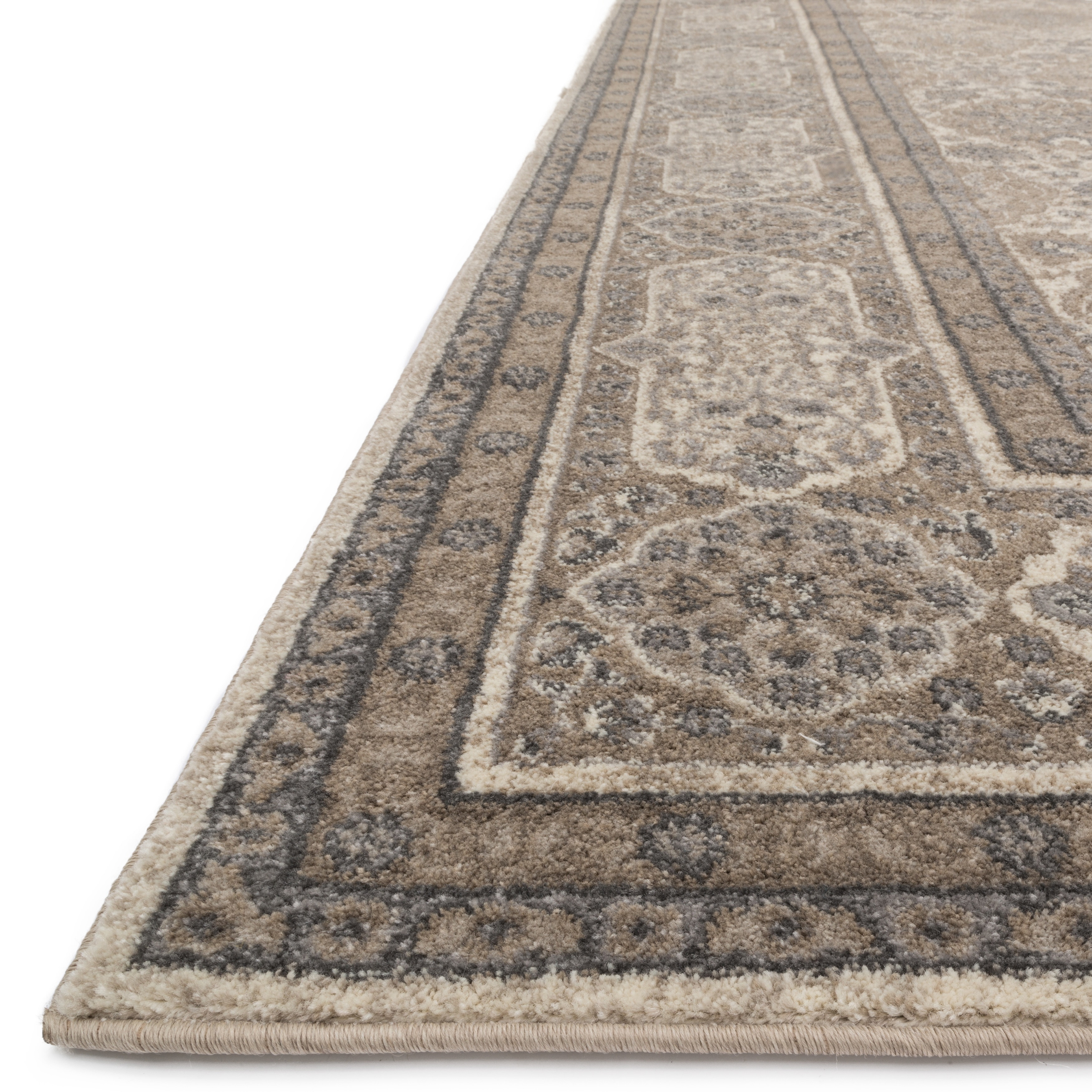 Shop Traditional Beige Taupe Floral Border Rug 96 X 13 On X8 Kendrick T Shirt Size M Sale Free Shipping Today 11807726
