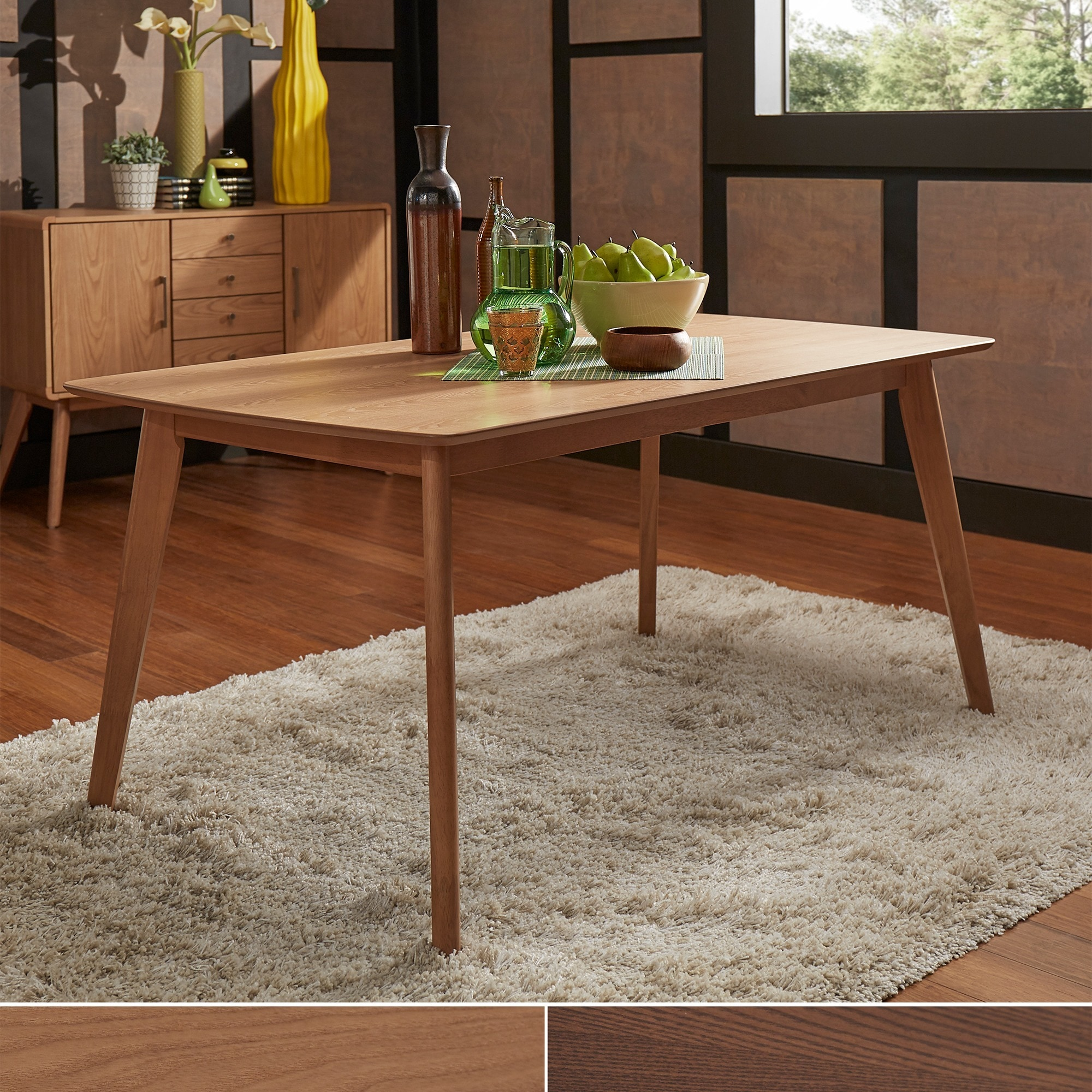 Penelope Danish Modern Tapered-leg Dining Table iNSPIRE Q Modern - Free  Shipping Today - Overstock.com - 18715928