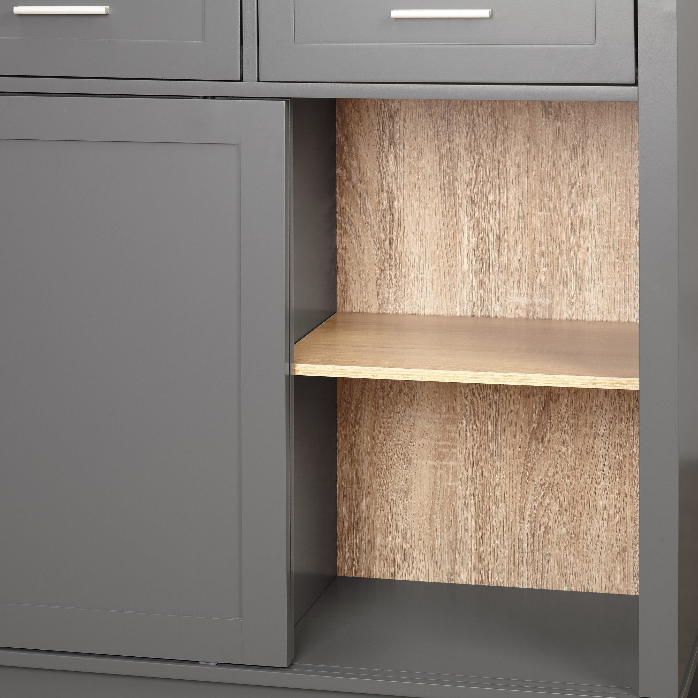 Shop Simple Living Kennedy Sliding Doors Kitchen Cabinet Free
