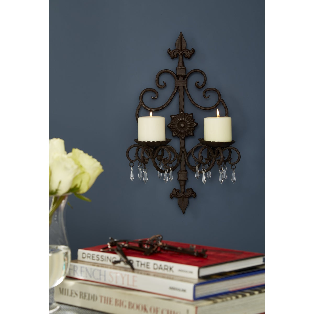 Shop Contemporary Iron Candle Wall Sconce Overstock 11808104