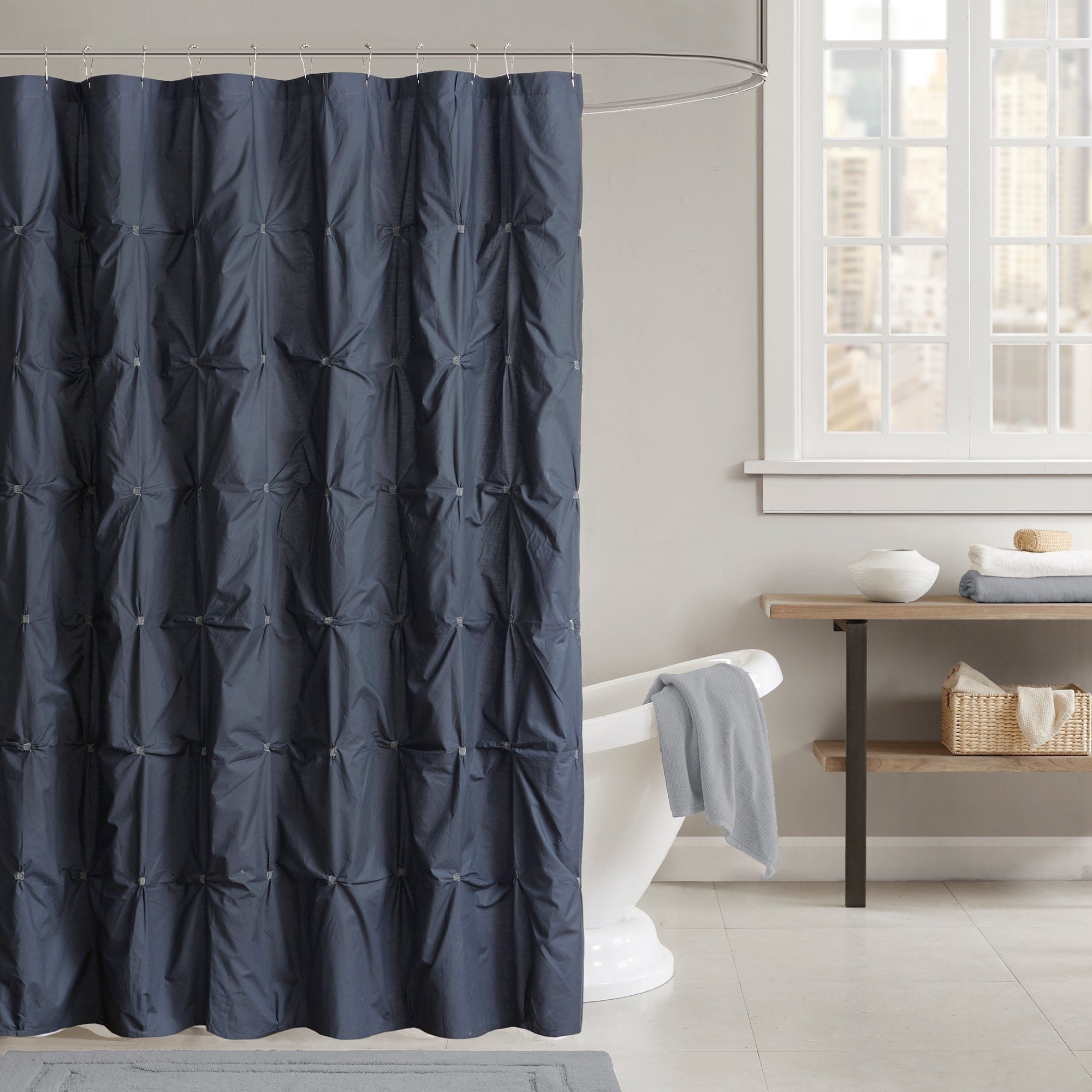 Shop INK IVY Masie Cotton Shower Curtain 2 Color Option