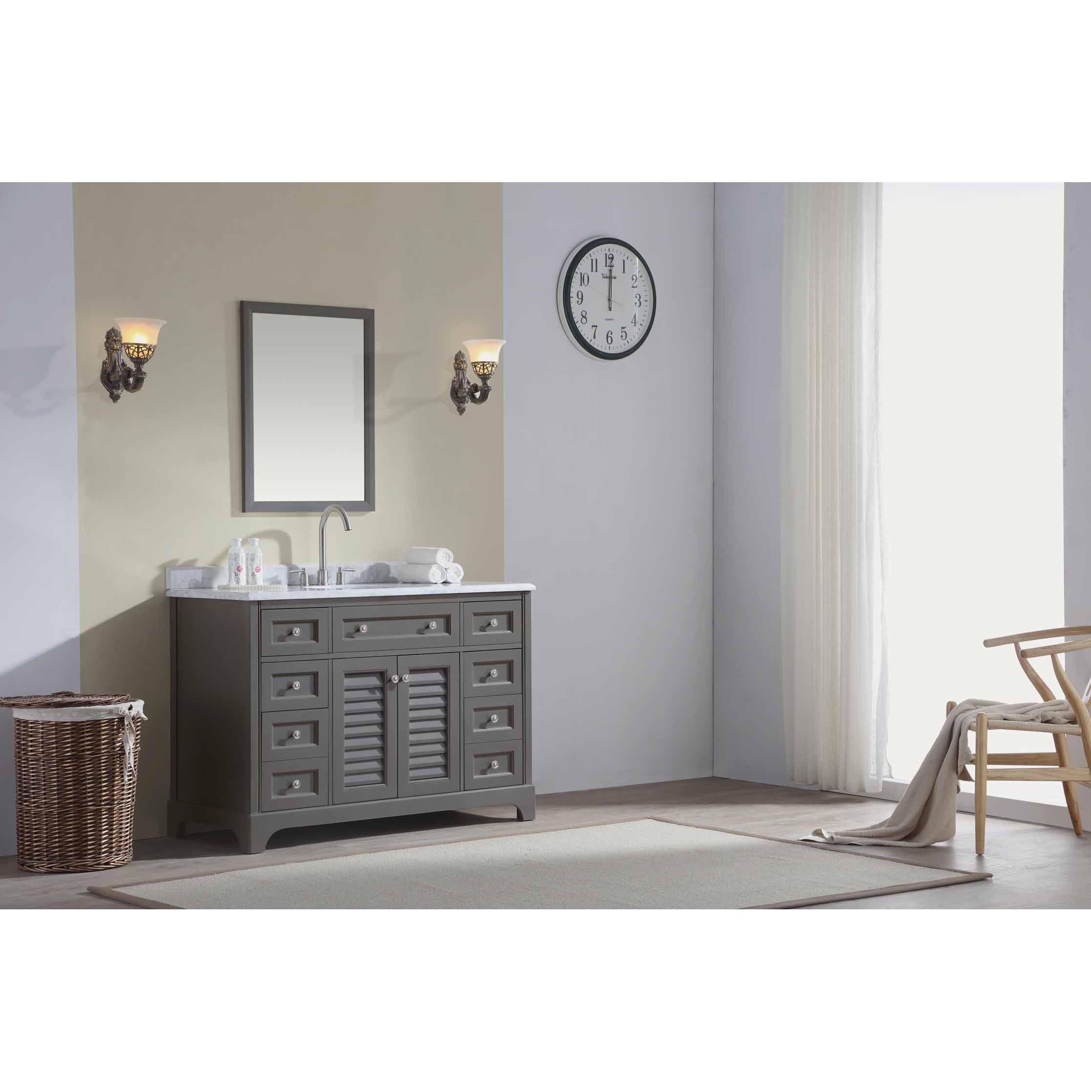 Ari Kitchen and Bath Madison 48-inch Single Bathroom Vanity Set