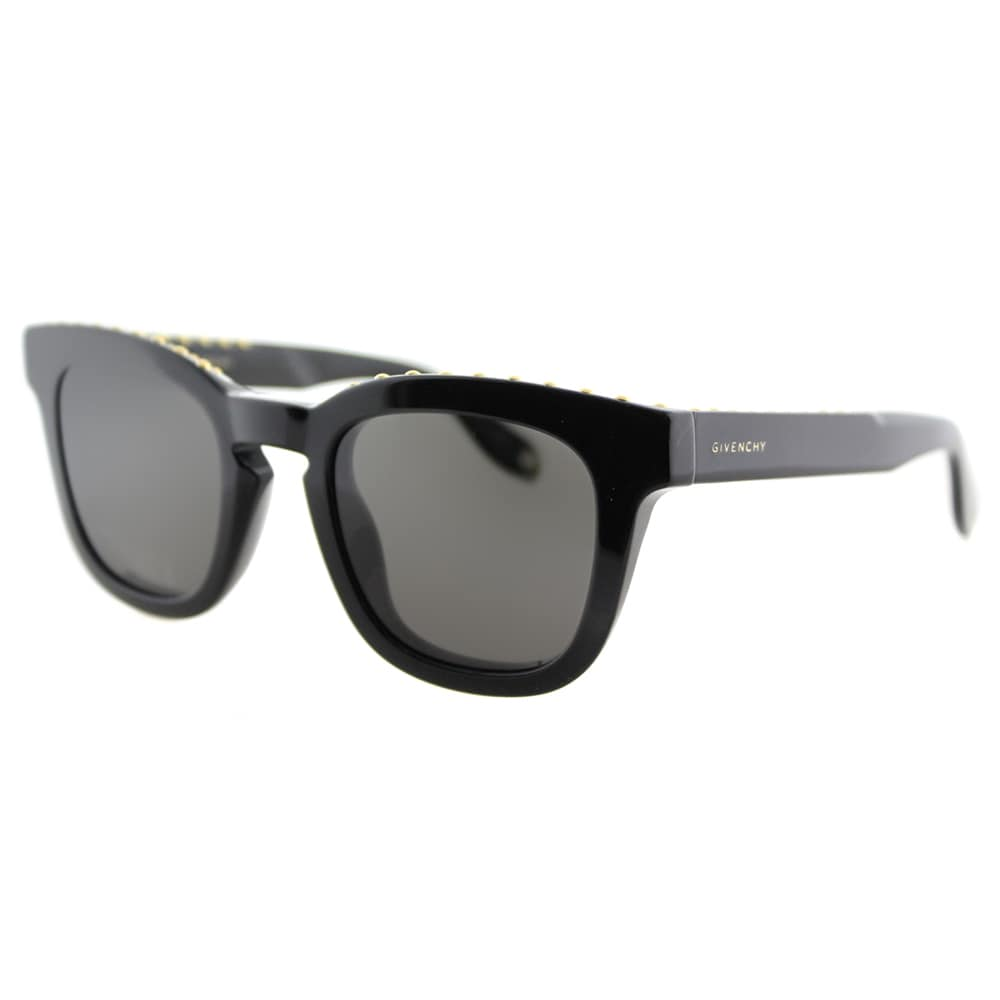 455f4dc36fad Givenchy GV 7006 807 NR studded Black Plastic Square Grey Lens Sunglasses