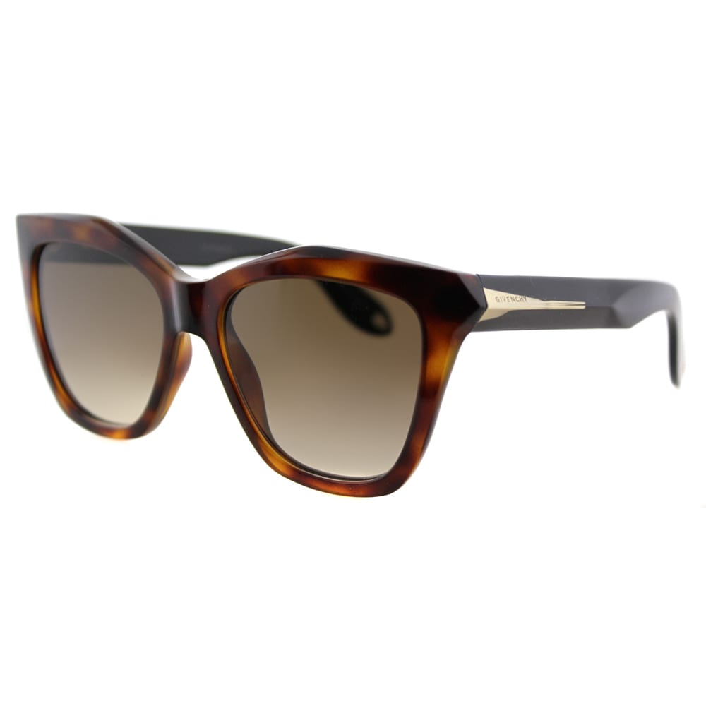 2c95158028 Givenchy GV 7008 QON Havana Black Plastic Cat-Eye Brown Gradient Lens  Sunglasses