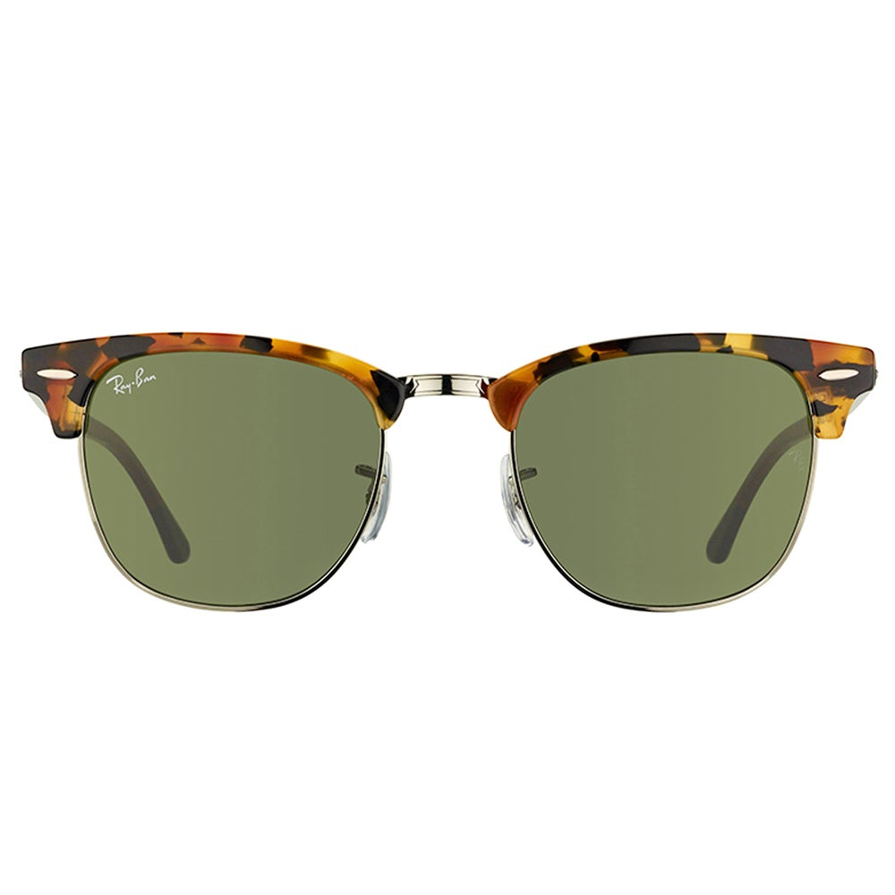 ba6df61d2e0f2 Shop Ray-Ban RB3016 Clubmaster Havana Frame Green Lens Sunglasses - Free  Shipping Today - Overstock - 11816524