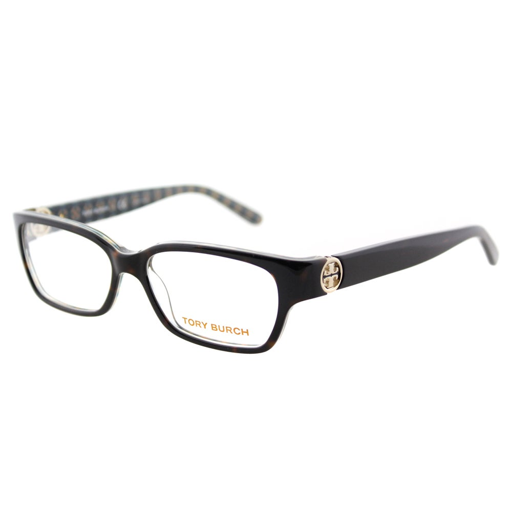 70669ada46 Shop Tory Burch TY 2025 1043 Tortoise on Logo Print Plastic Rectangle 53mm  Eyeglasses - Free Shipping Today - Overstock - 11816564