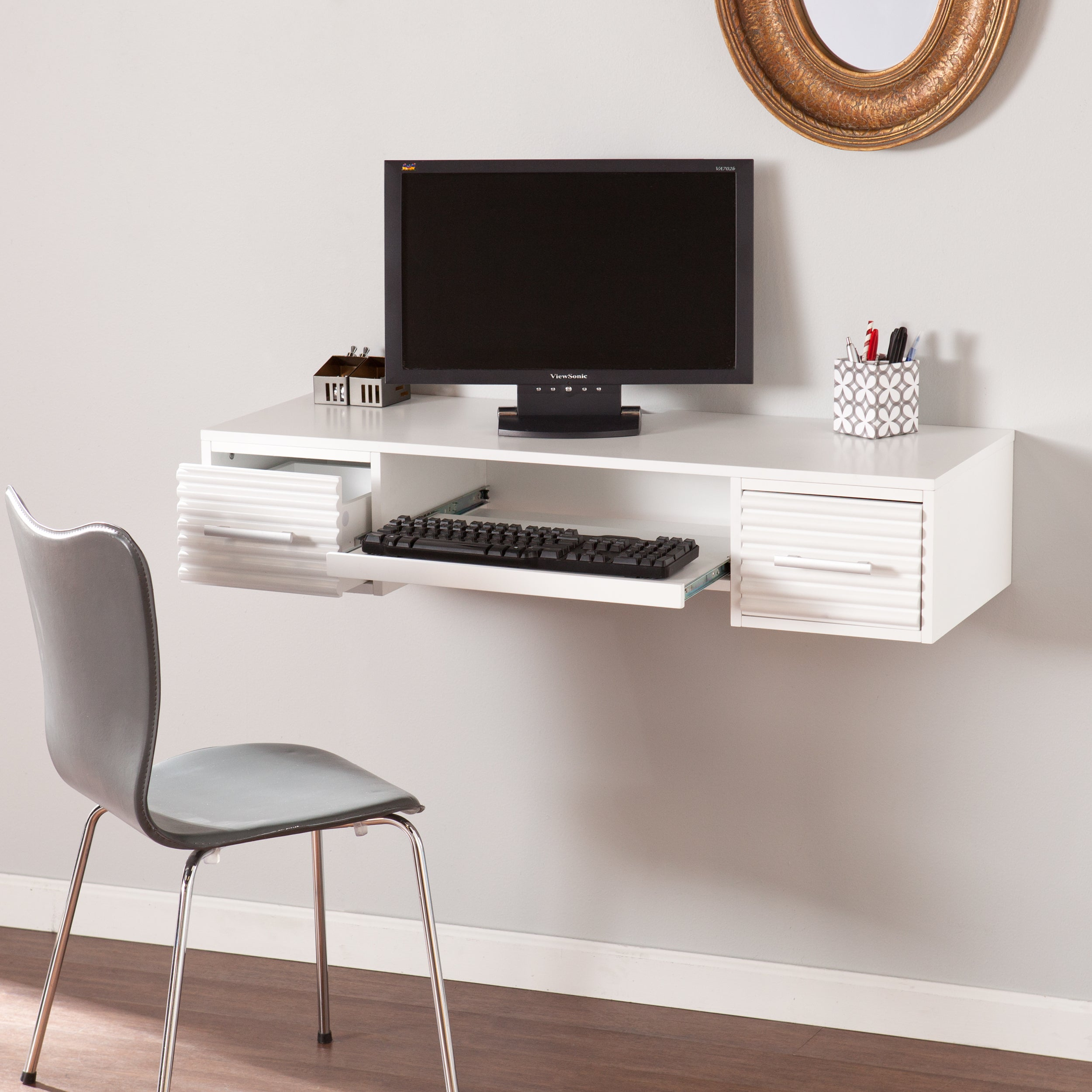 Harper Blvd Shaw White Wallmount Desk Free Shipping Today