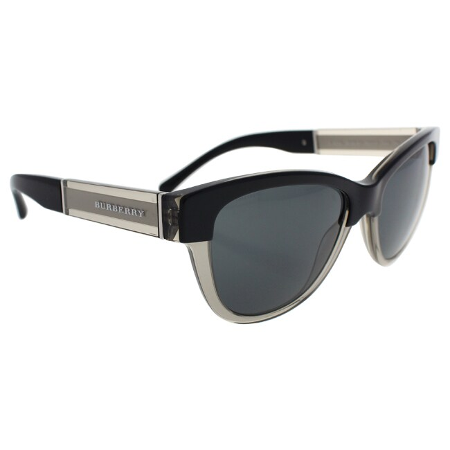 e020ff9cf3fc Shop Burberry Women s BE4206 355887 Black Plastic Cat Eye Sunglasses - Free  Shipping Today - Overstock.com - 11816895