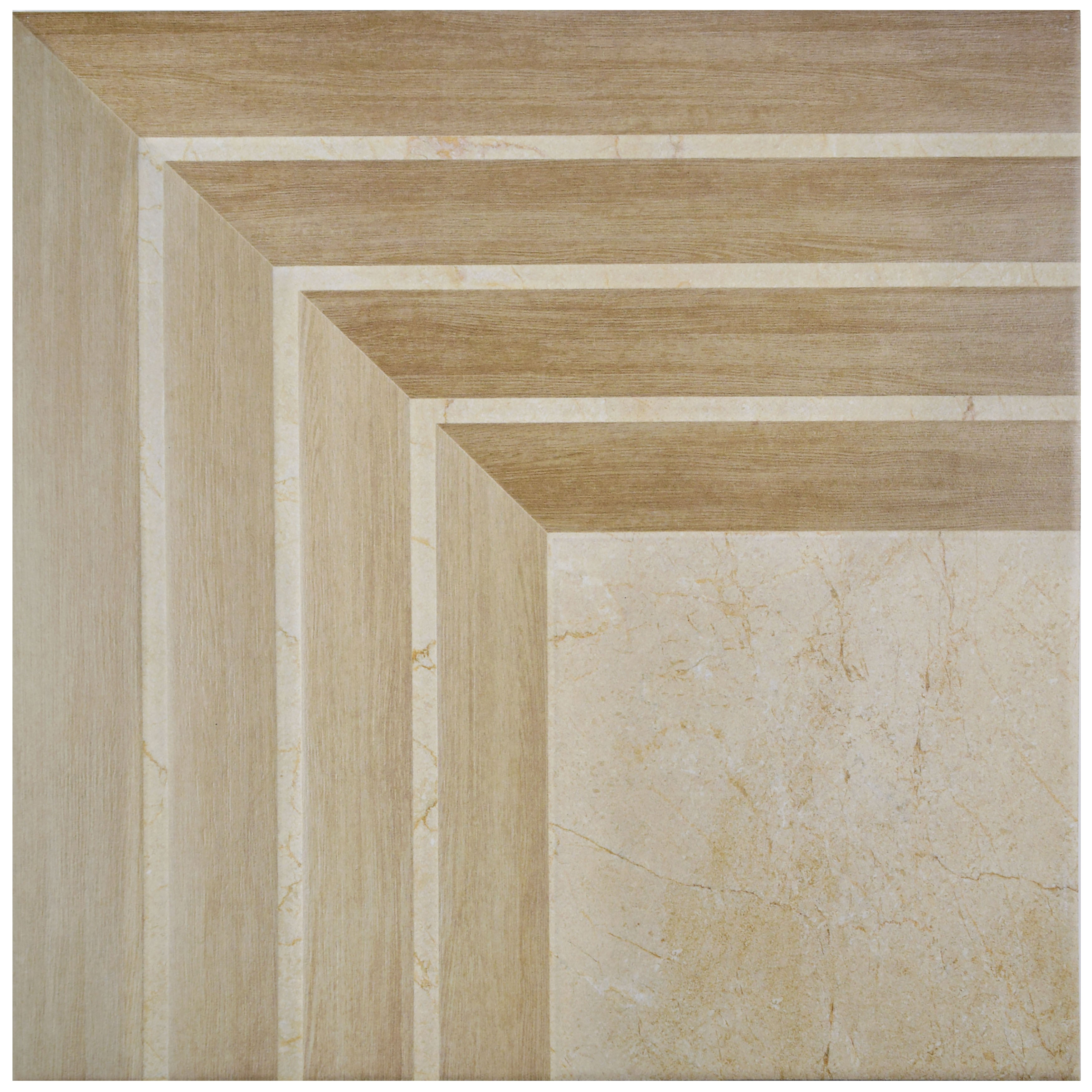 Somertile 17 75x17 75 Inch Illusion Jet Beige Ceramic Floor And Wall Tile 5 Tiles 11 25 Sqft Free Shipping Today 11817132