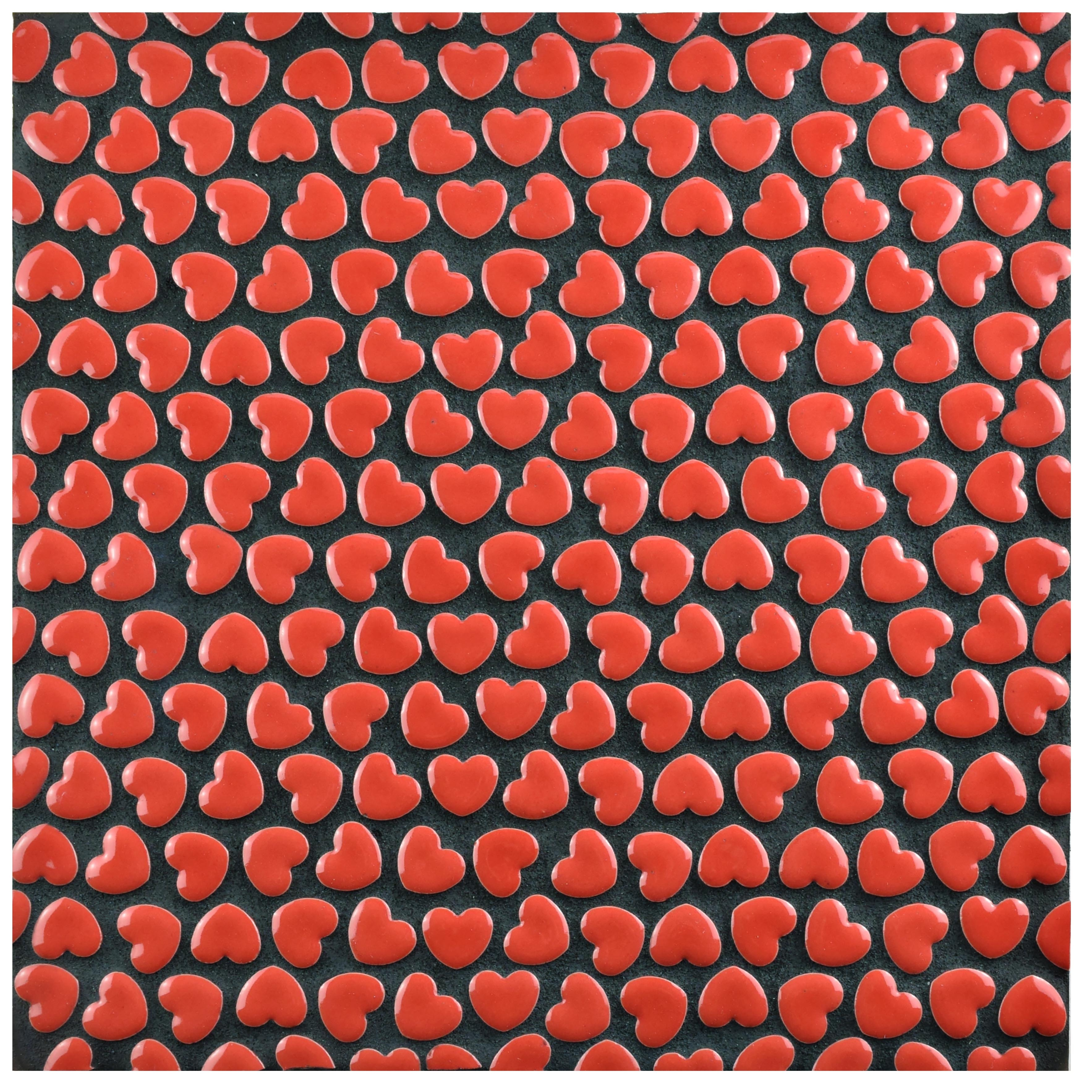 Somertile 11125x11375 inch corazon glossy red ceramic mosaic floor somertile 11125x11375 inch corazon glossy red ceramic mosaic floor and wall tile 5 tiles44 sqft free shipping today overstock 18723695 dailygadgetfo Choice Image