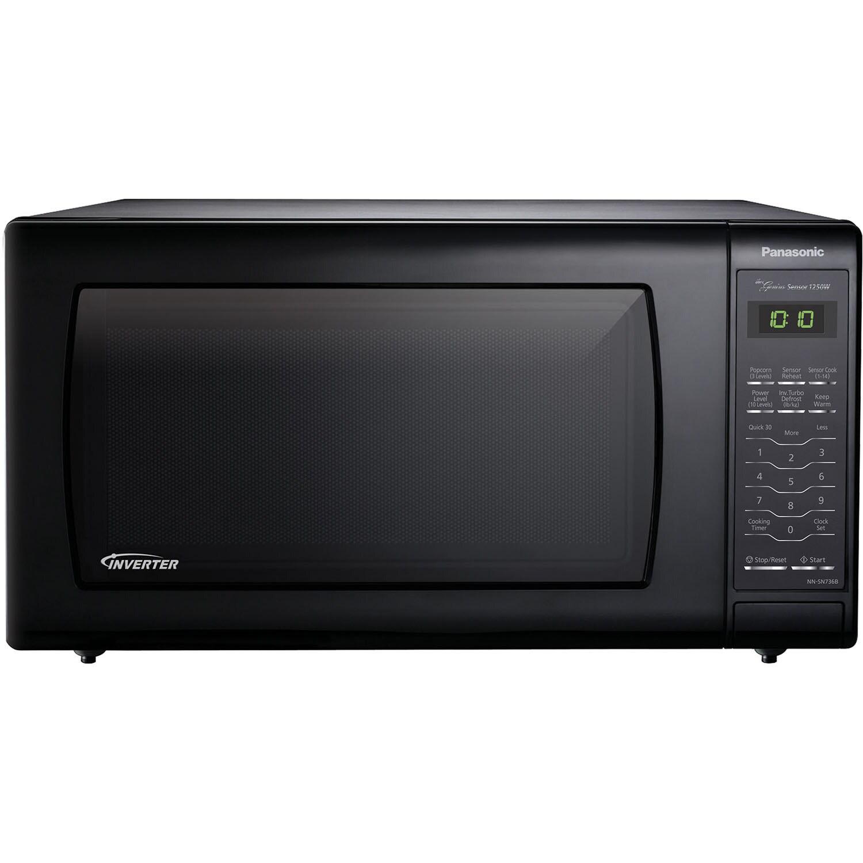 Panasonic Nn Sn736b 1 6 Cubic Foot 1250 Watt Genius Sensor Black Countertop Microwave Oven With Inverter Technology Free Shipping Today