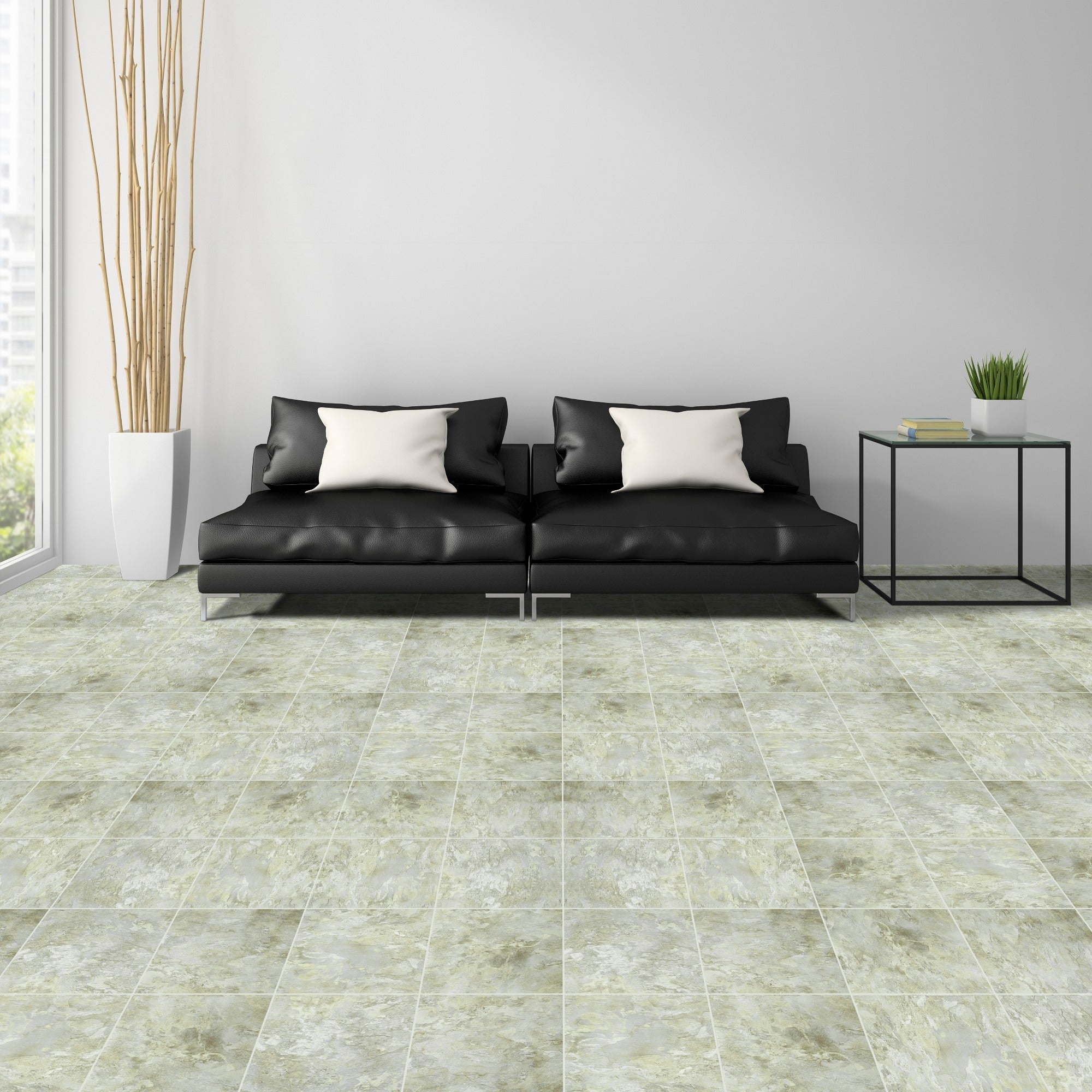 shop achim sterling gray marble 12x12 self adhesive vinyl floor tile