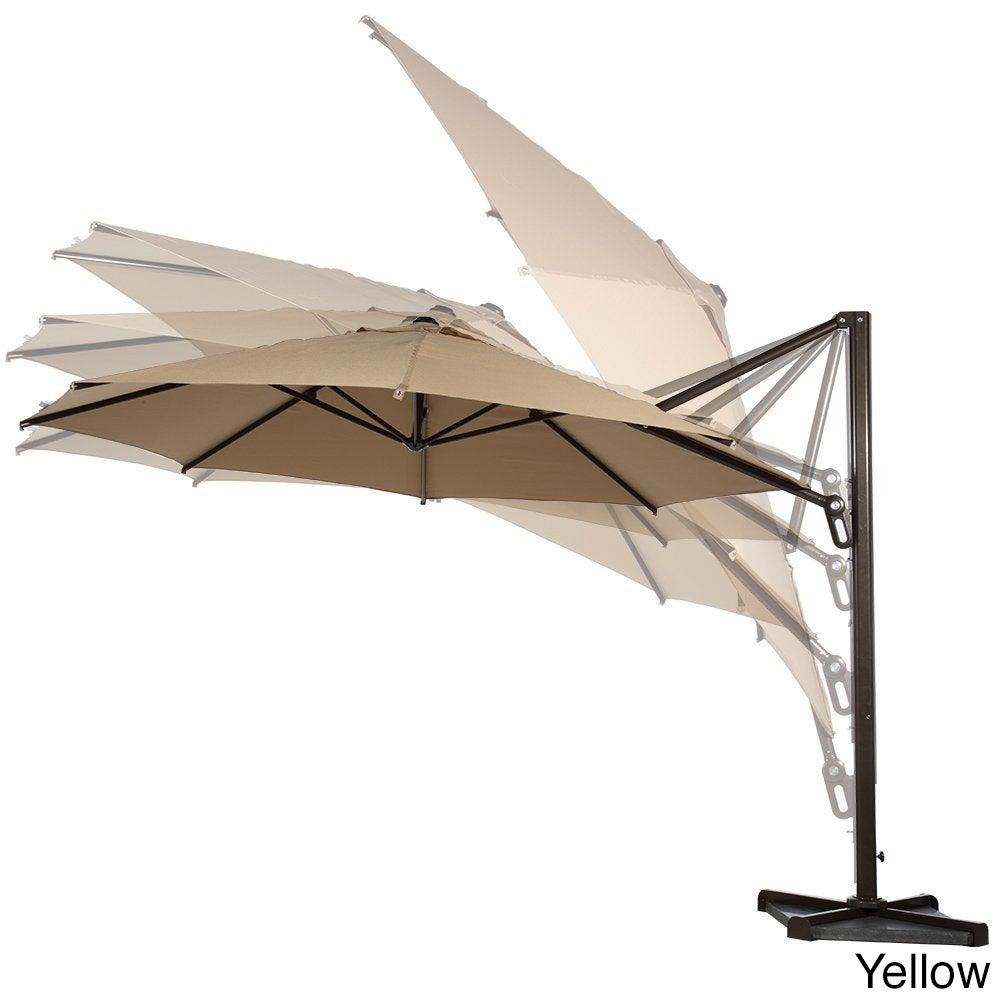 Shop Abba Patio 11u0027 Octagon Cantilever Tilt/Crank Lift Umbrella W Cross  Base   Free Shipping Today   Overstock.com   11818561