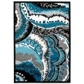Persian Rugs Turquoise/White/Black Area Rug (5'2 x 7'2)
