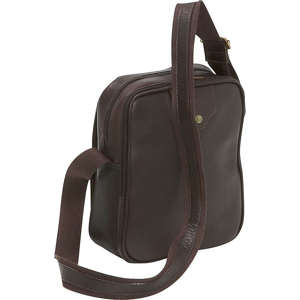 7d138560b Shop LeDonne Leather Men's Leather Day Bag - Free Shipping Today -  Overstock - 11819237