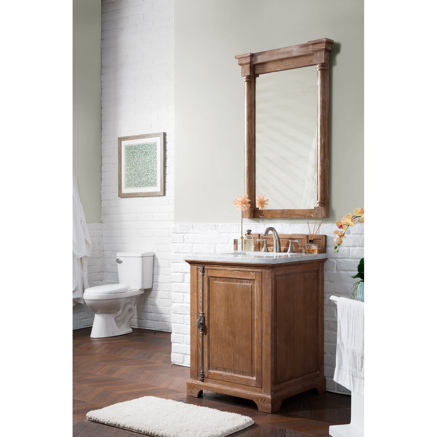 Providence 26 Single Vanity Cabinet Driftwood Free Shipping Today 11819329