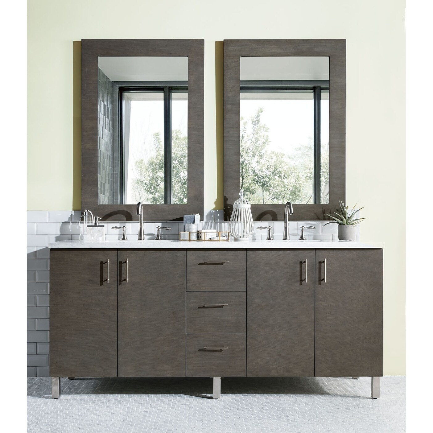 vanity vessel double wood reclaimed gray sink cabinet wash bonner pine