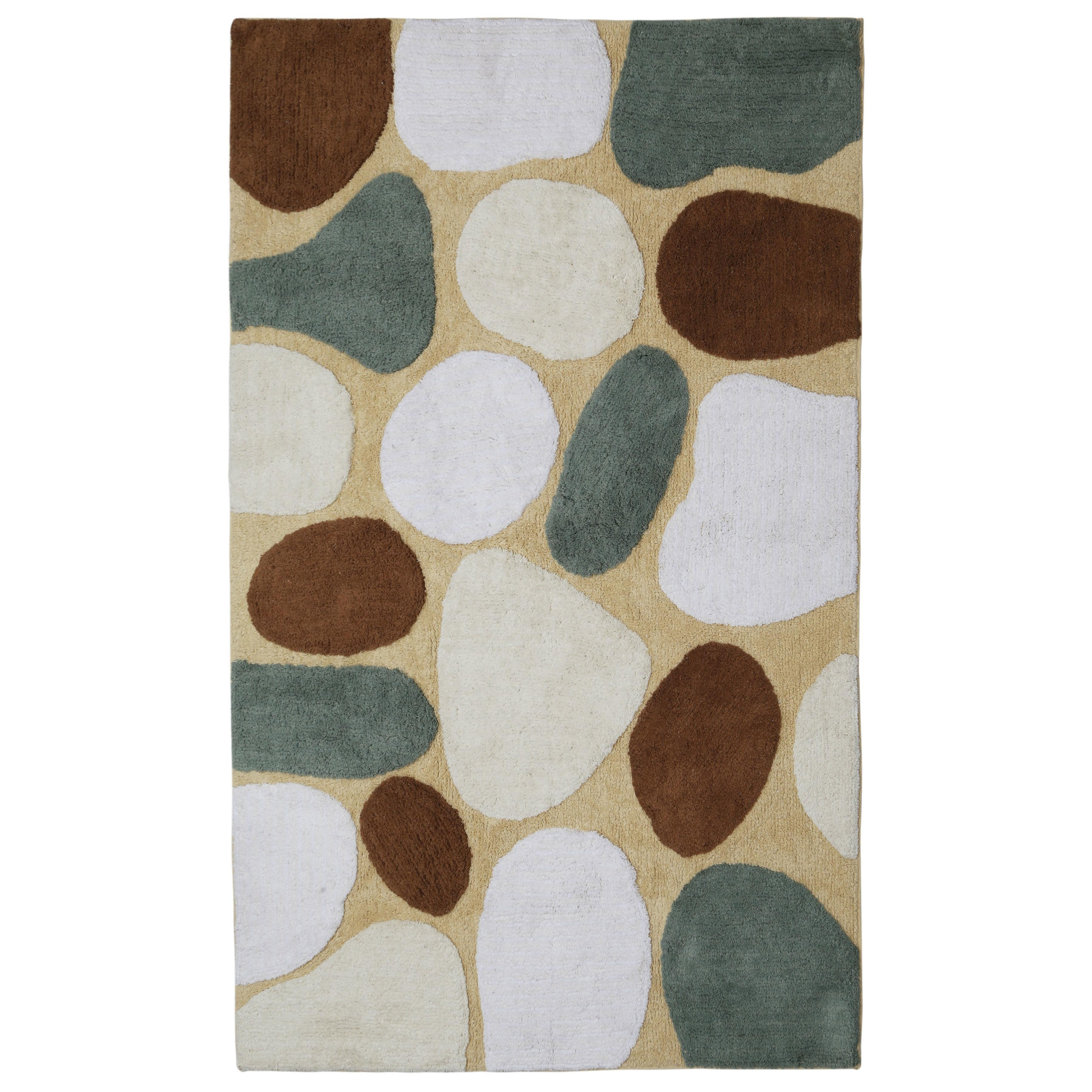 "Shop Tan Pebble Beach Bath Rug (30""x50"") - 30 x 50 - On Sale - Free Shipping Today - Overstock.com - 11820160"