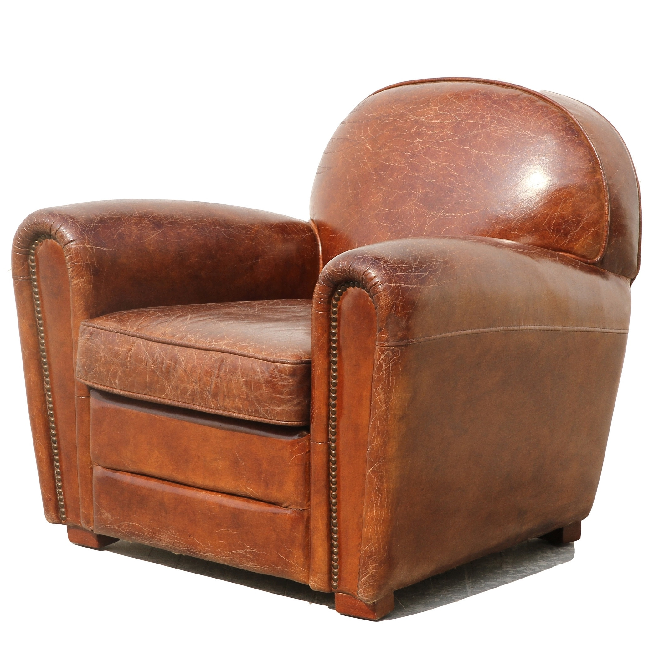 Merveilleux Shop Pasargad Genuine Leather Paris Club Chair   On Sale   Free Shipping  Today   Overstock.com   11820497