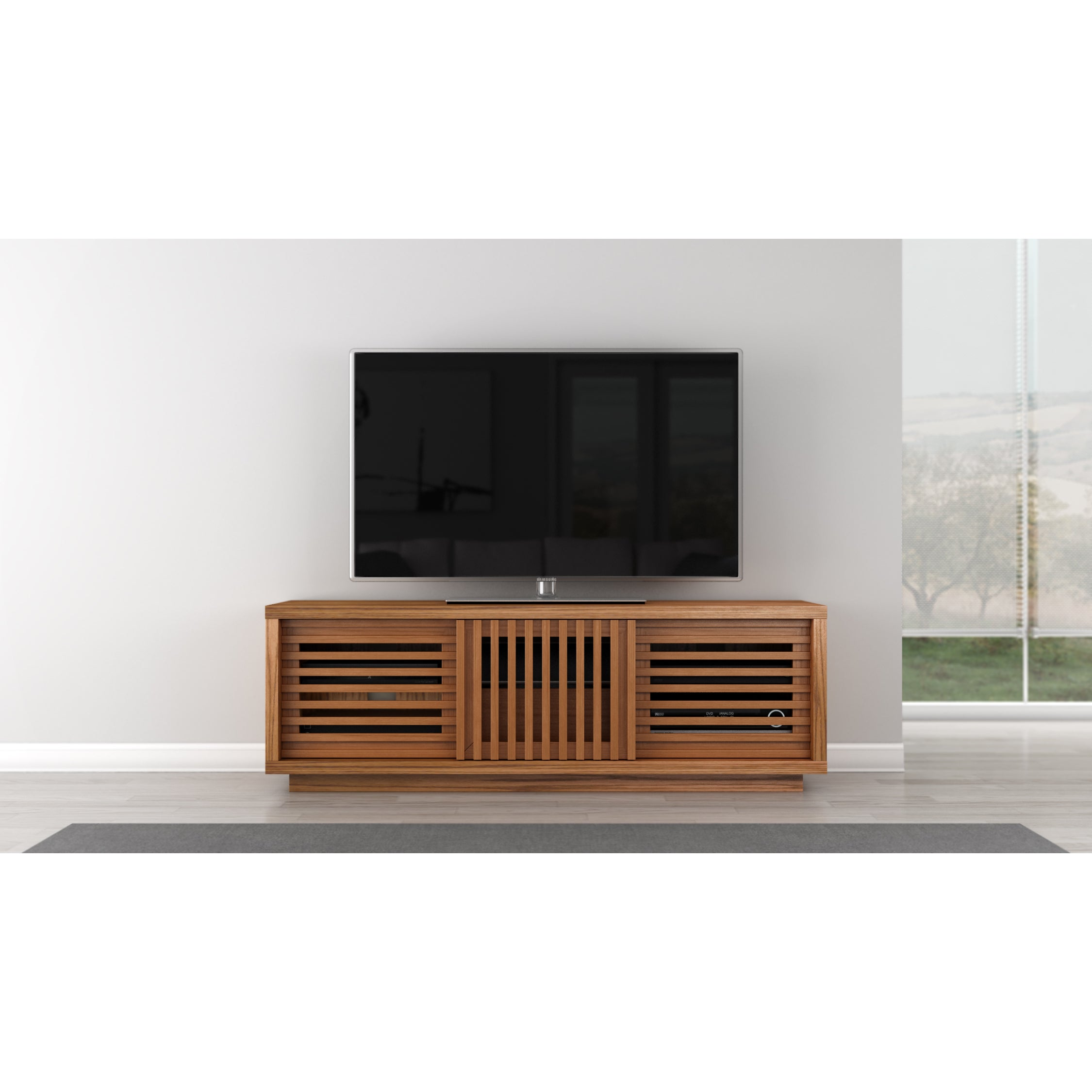 Shop 64 Inch Contemporary Rustic Media Console Free Shipping Today Overstock 11820857