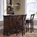 Contempo Wood and Granite Bar in Dark Brown