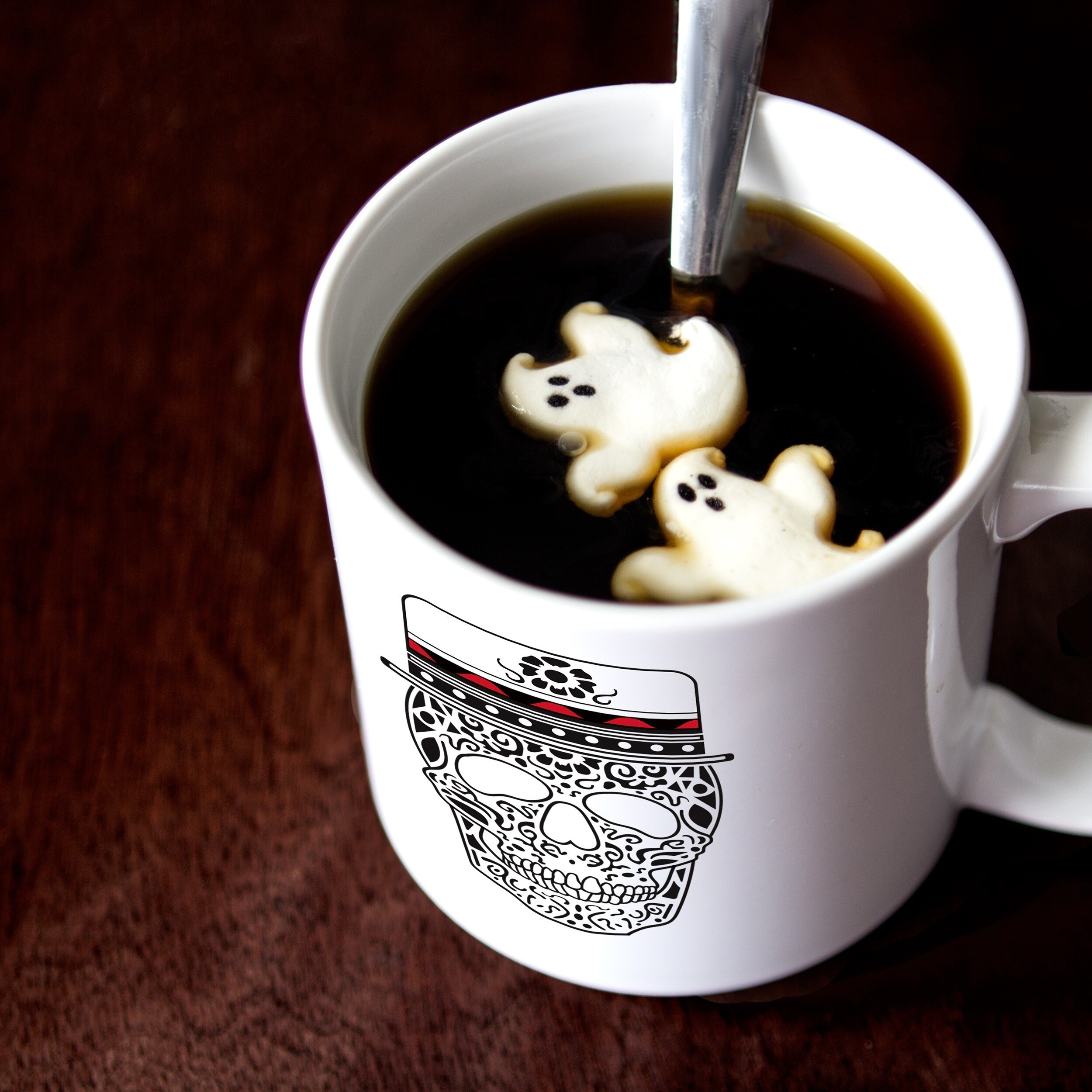 His Hers Sugar Skull White Cermaic 20 Ounce Coffee Mug Set Free Shipping On Orders Over 45 11823728