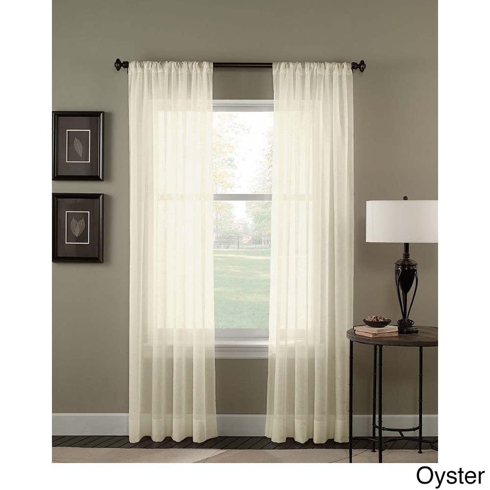 Shop Trinity Crinkle Voile Extrawide Sheer Curtain Panel