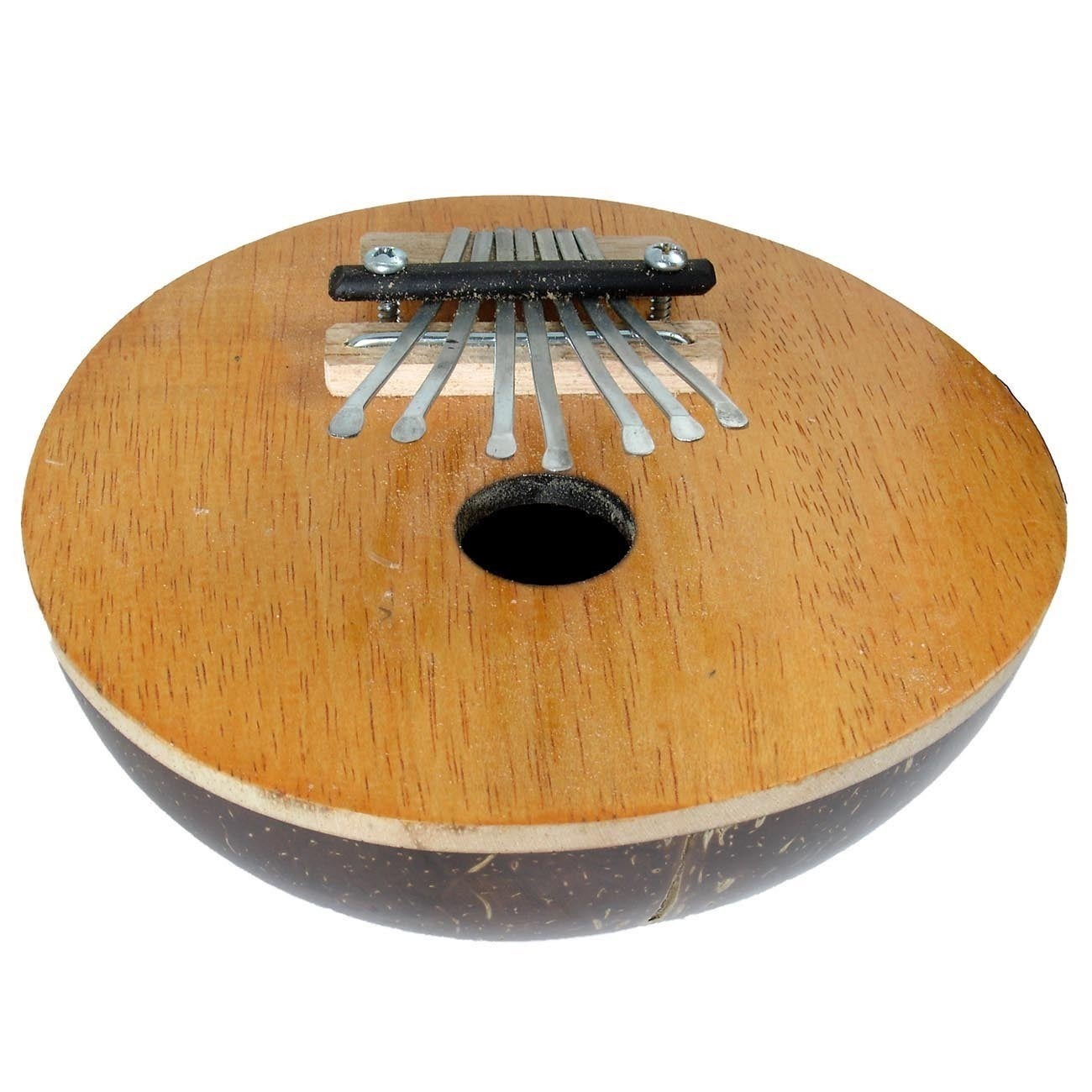 Handmade Fair Trade Handmade Wood & Coconut Shell Thumb Piano (Indonesia)